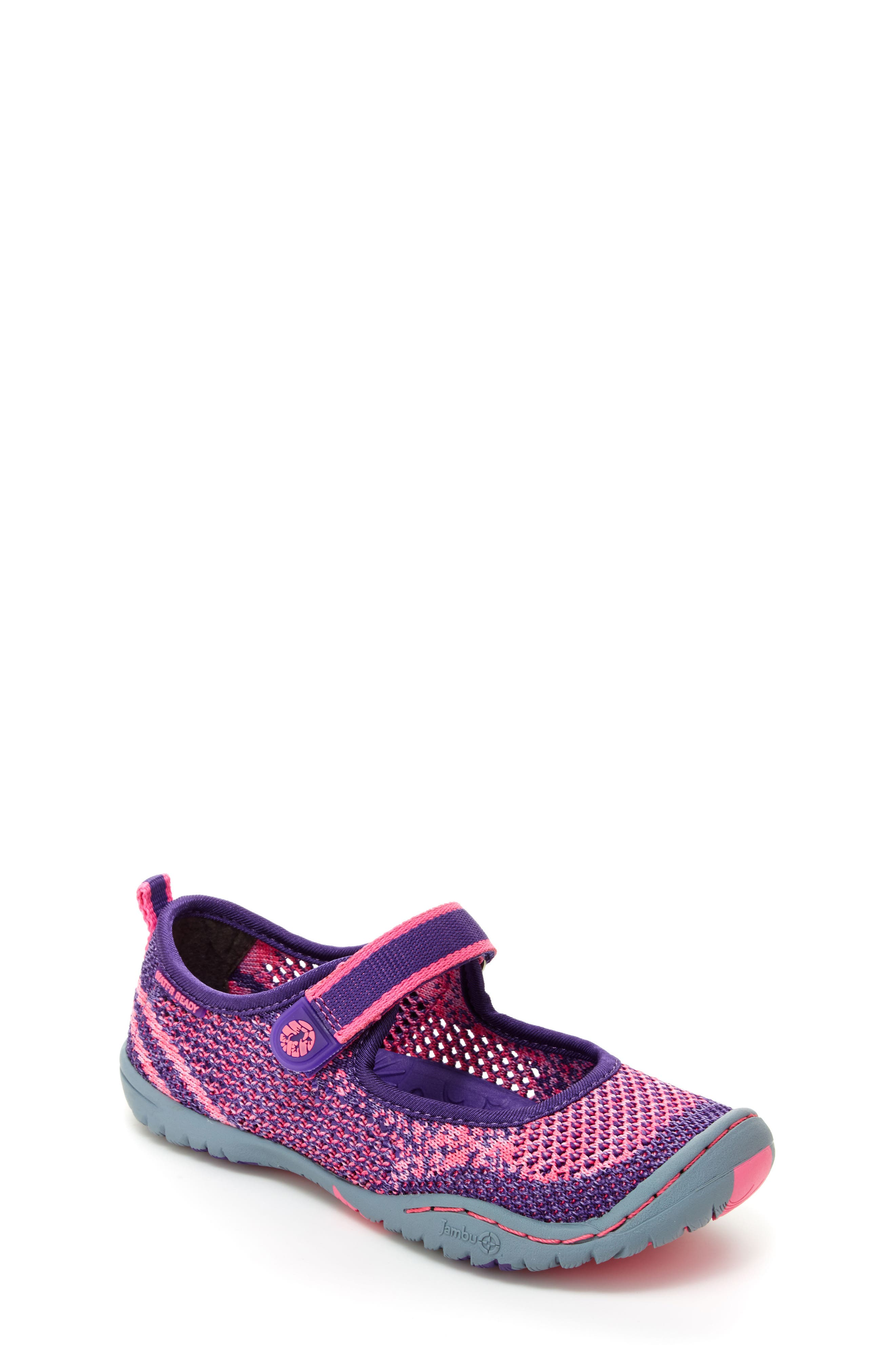 Jambu 'Sora' Knitted Water Repellent Mary Jane Flat (Toddler, Little Kid & Big Kid)