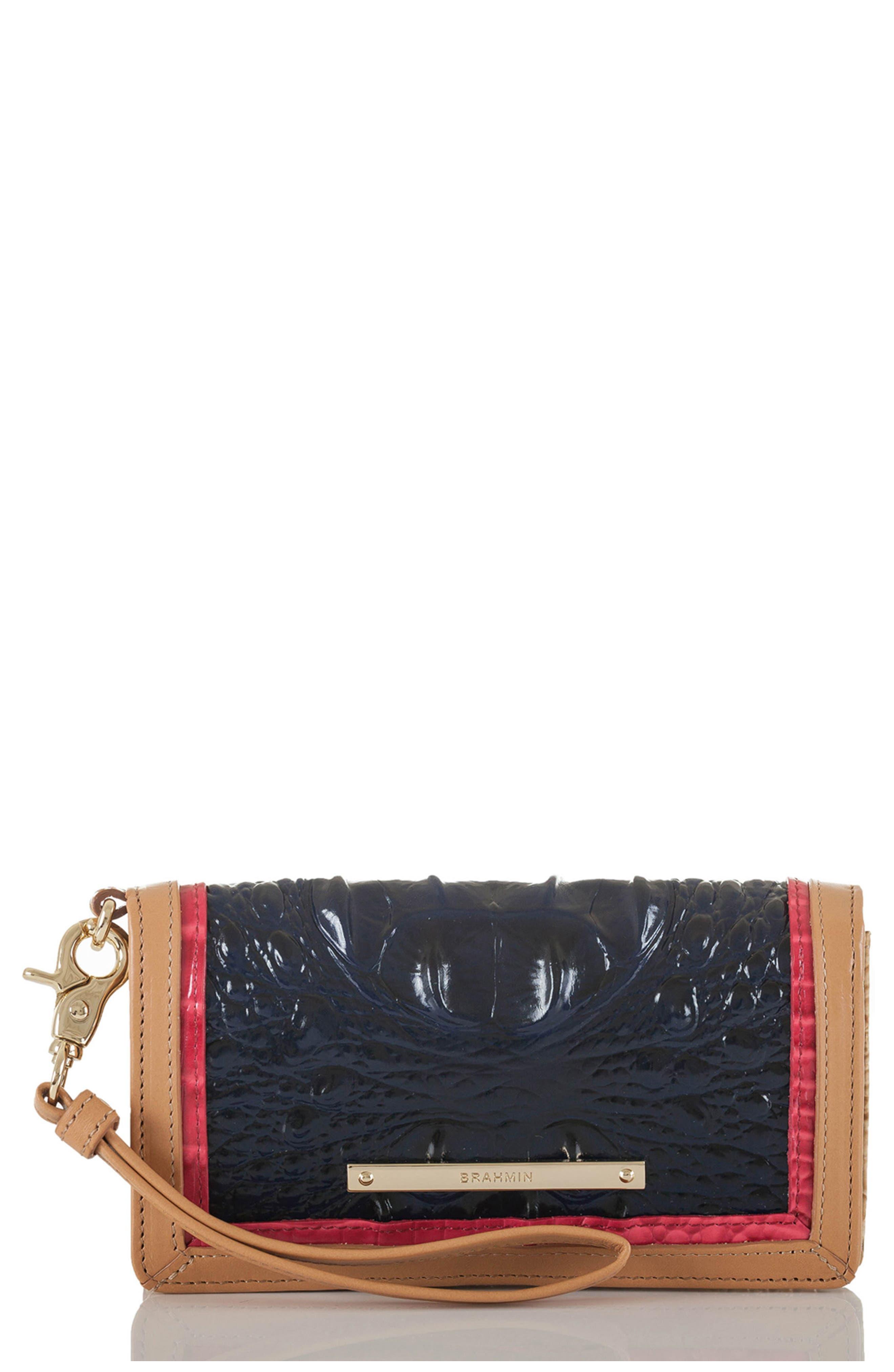 Brahmin Debra Croc Embossed Leather Phone Wallet
