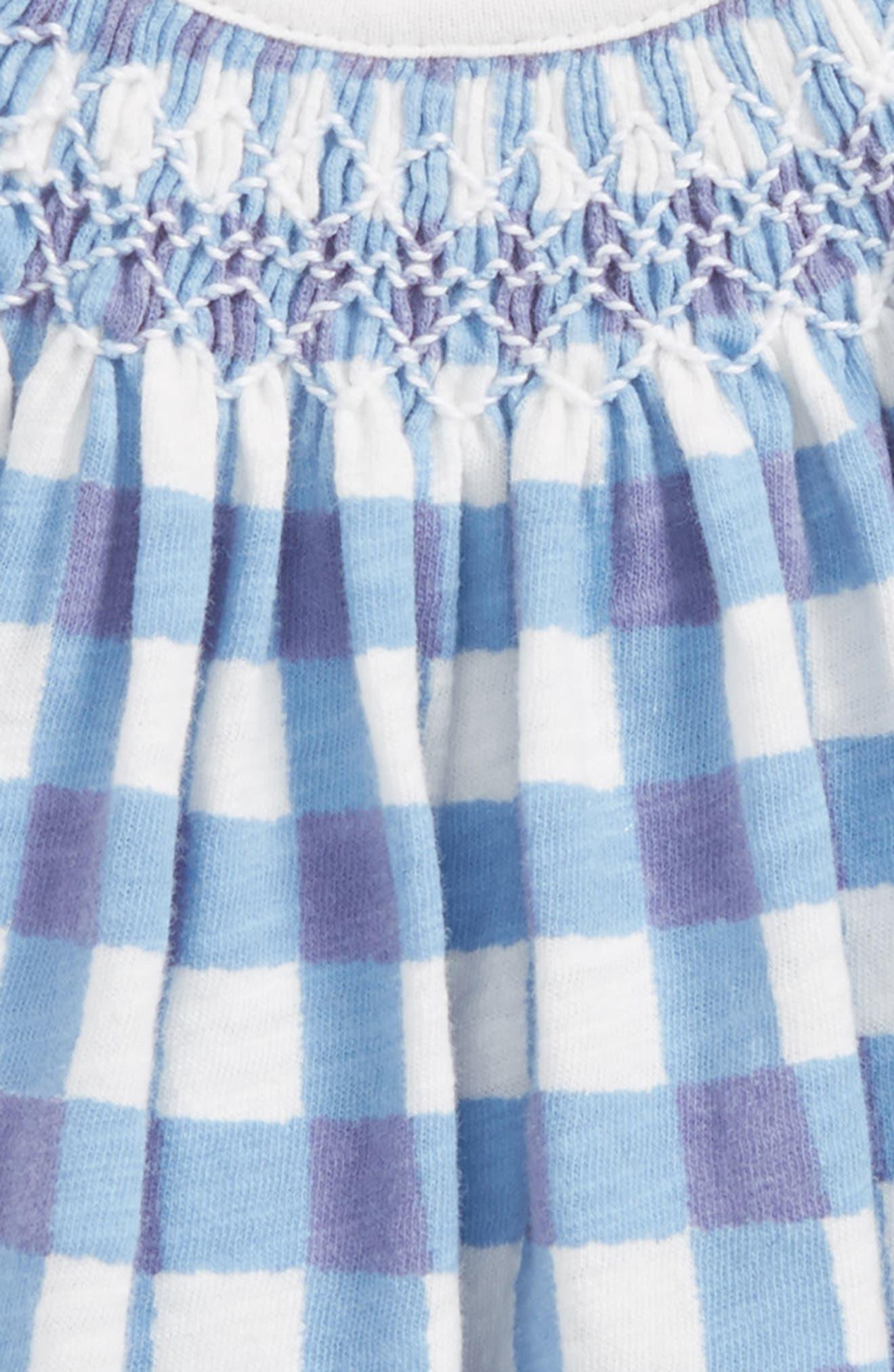 Peek Smocked Gingham Dress,                             Alternate thumbnail 2, color,                             Periwinkle