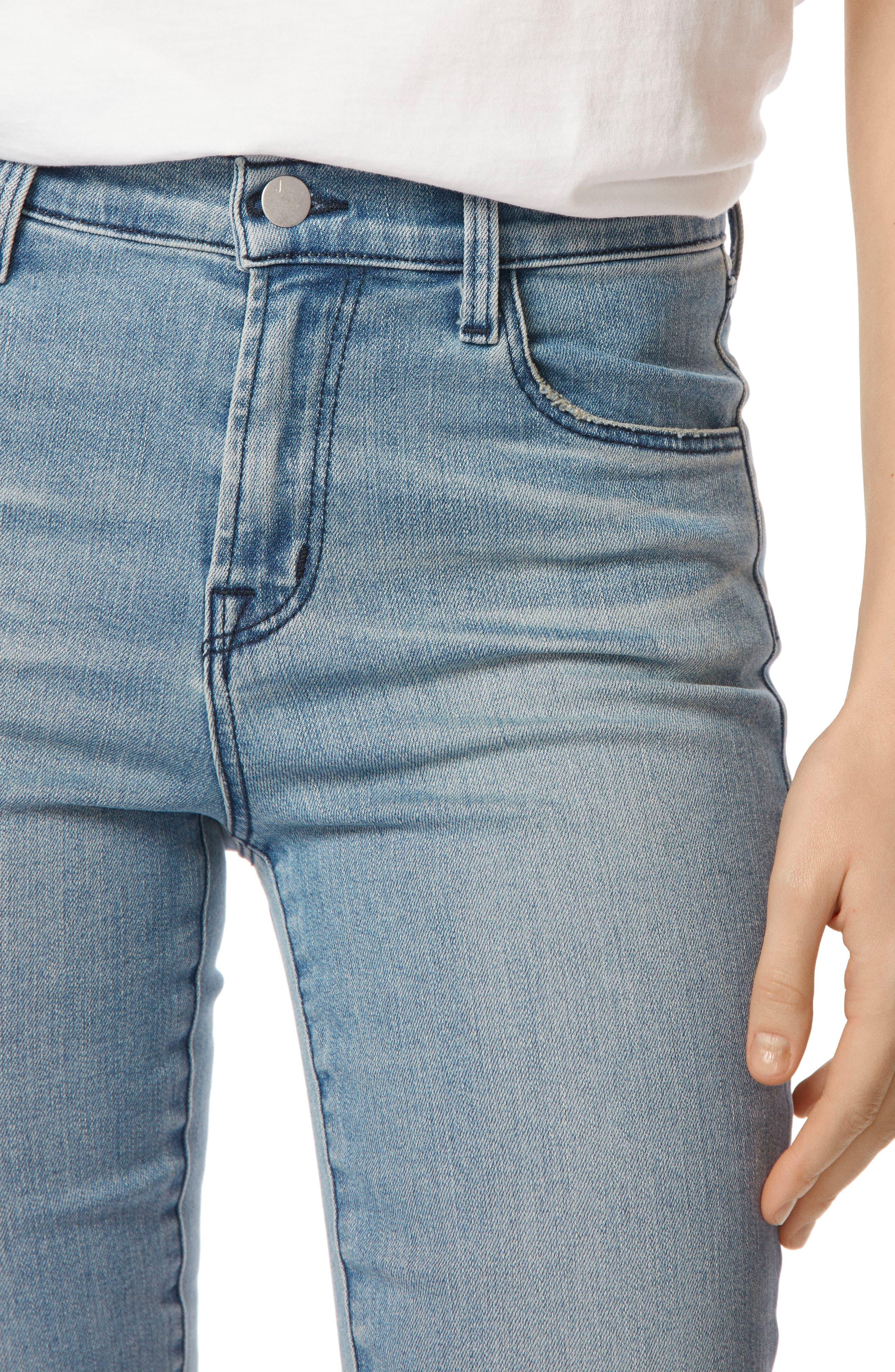 Maria High Waist Skinny Jeans,                             Alternate thumbnail 4, color,                             Patriot