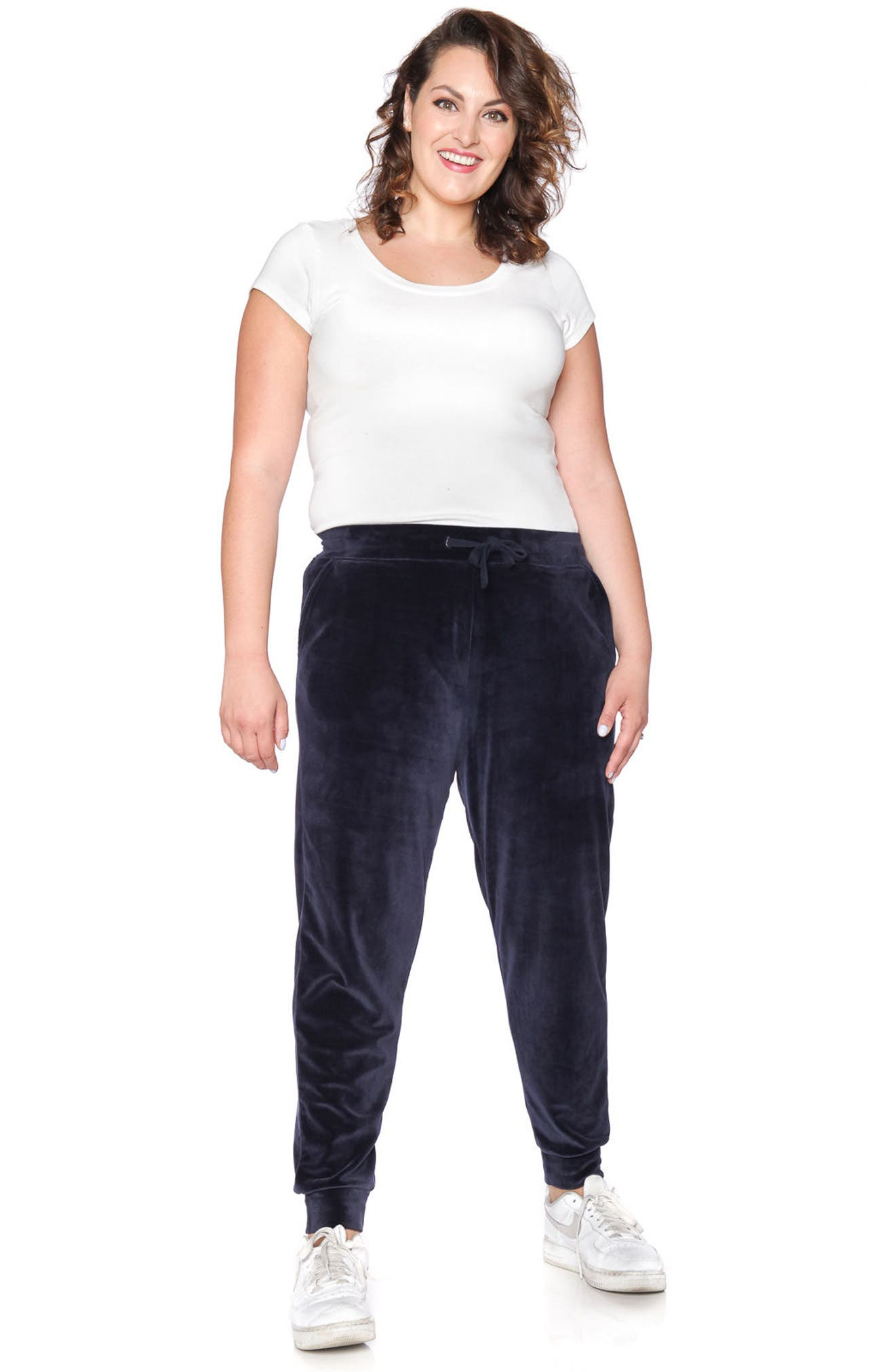 Velour Jogger Pants,                             Alternate thumbnail 3, color,