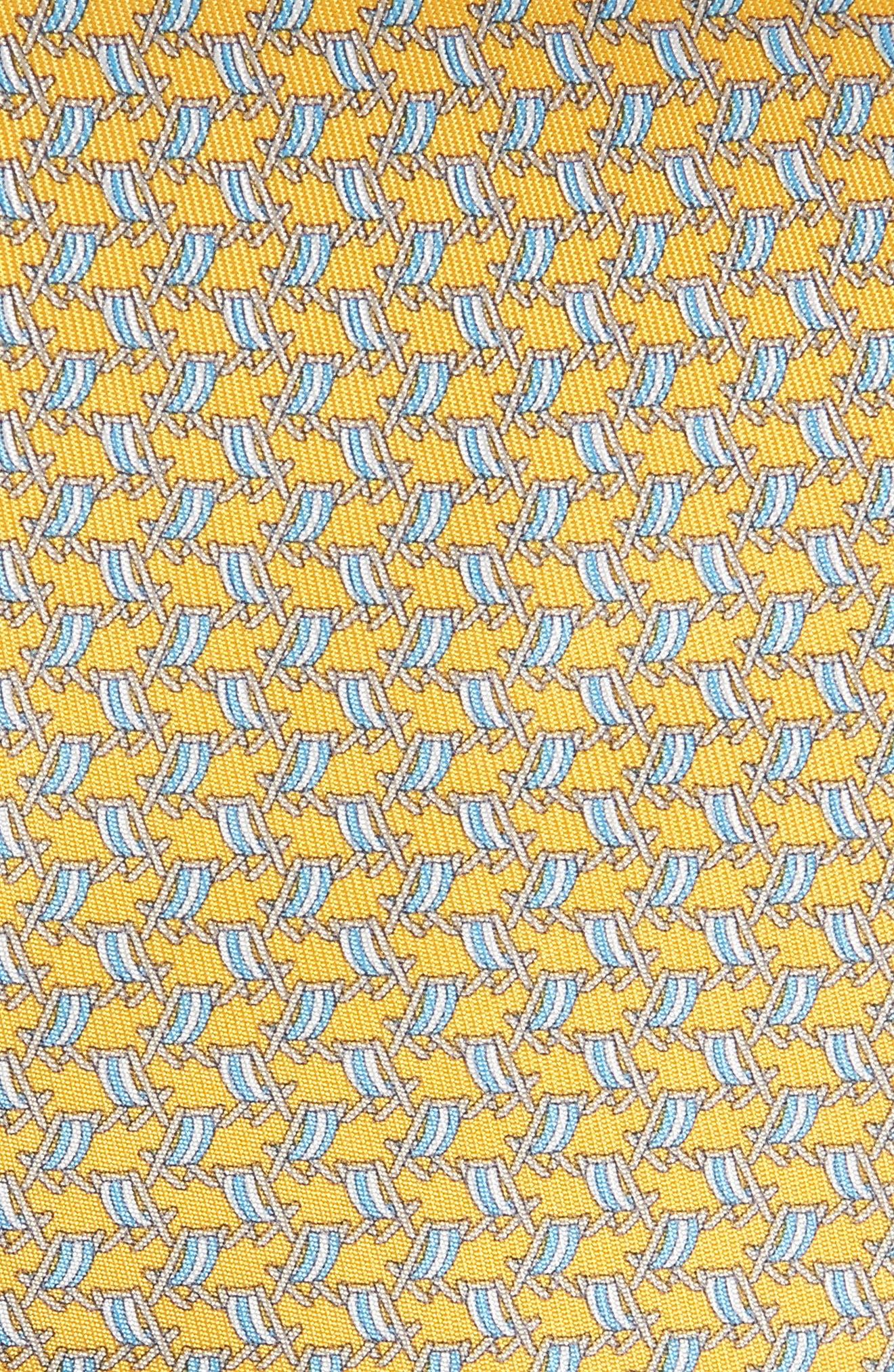 Ersilia Print Silk Tie,                             Alternate thumbnail 2, color,                             Yellow