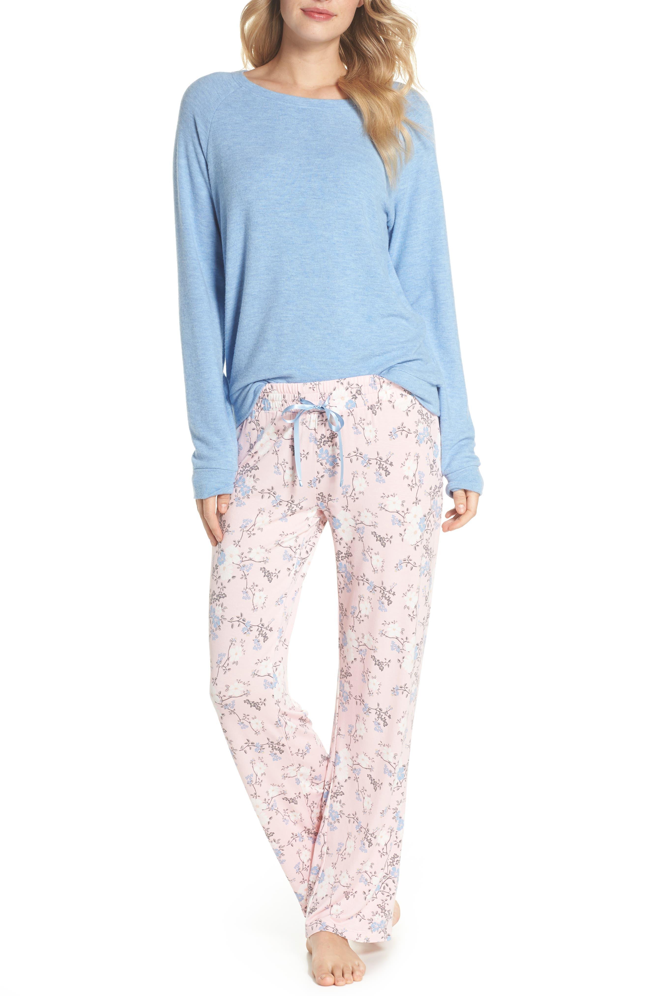 Peachy Pajama Shirt,                             Alternate thumbnail 6, color,                             Blue