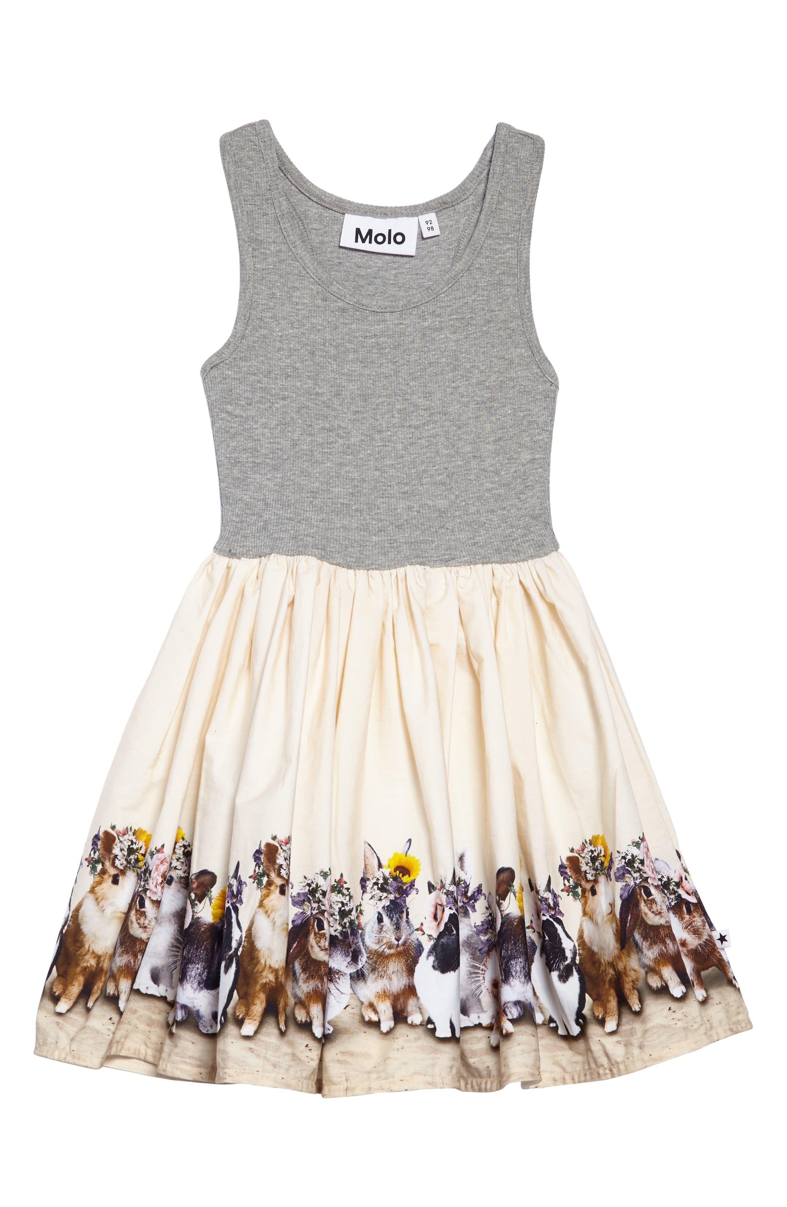 Main Image - Molo Cassandra Bunny Tank Dress (Toddler Girls, Little Girls & Big Girls)