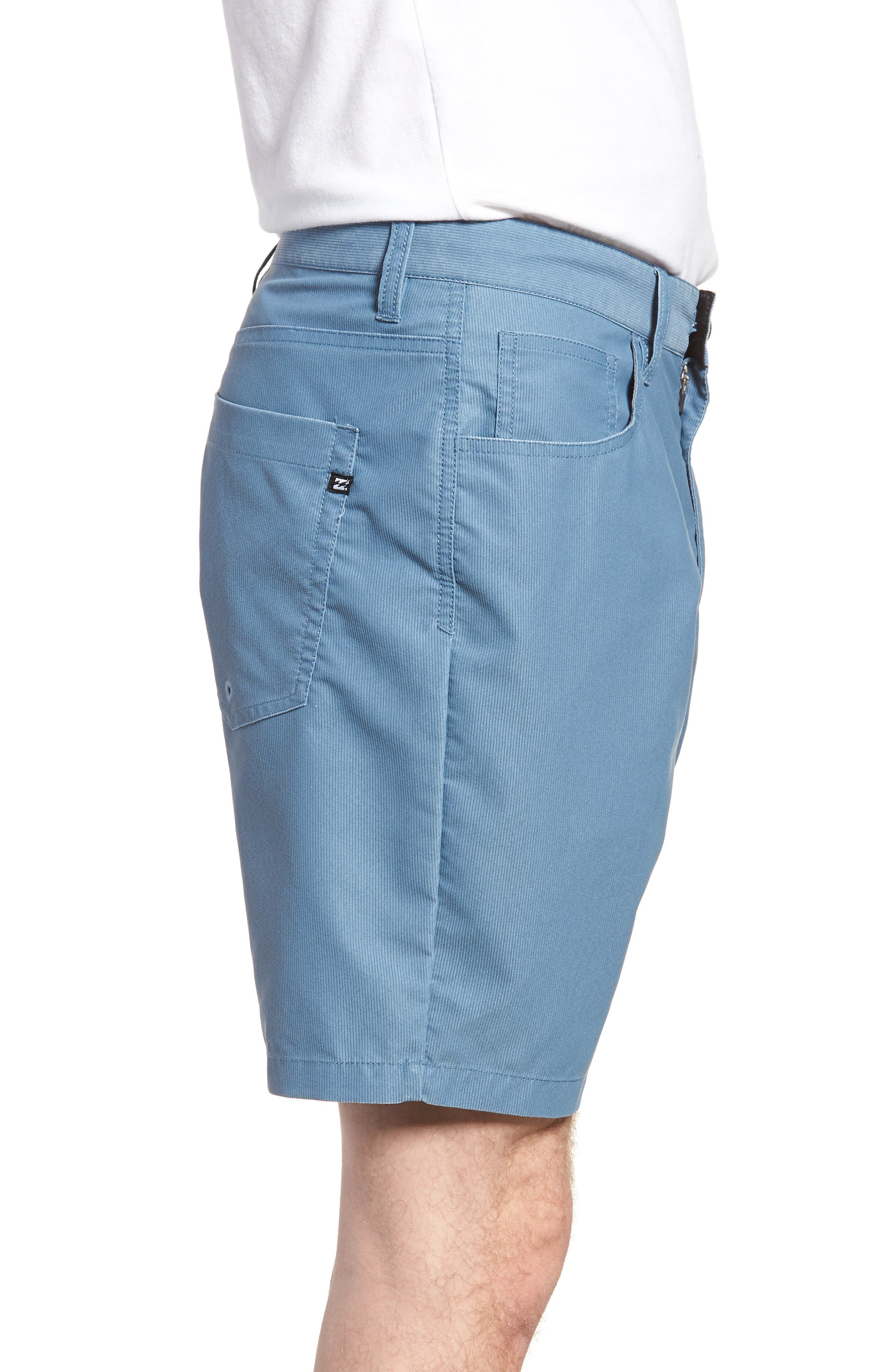 Outsider X Surf Corduroy Shorts,                             Alternate thumbnail 3, color,                             Powder Blue