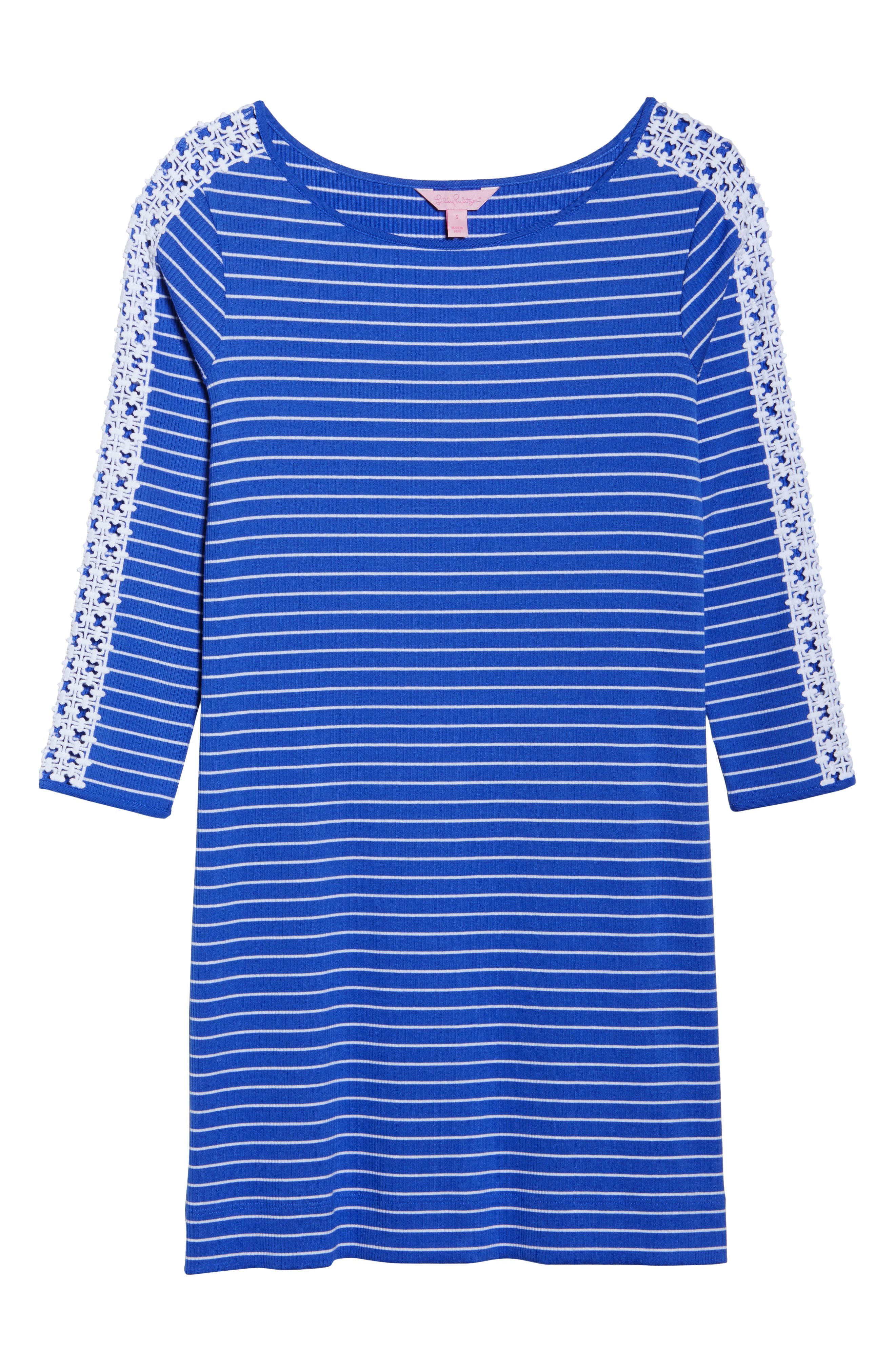 Marlowe Shift Dress,                             Alternate thumbnail 6, color,                             Beckon Blue Breeze Stripe