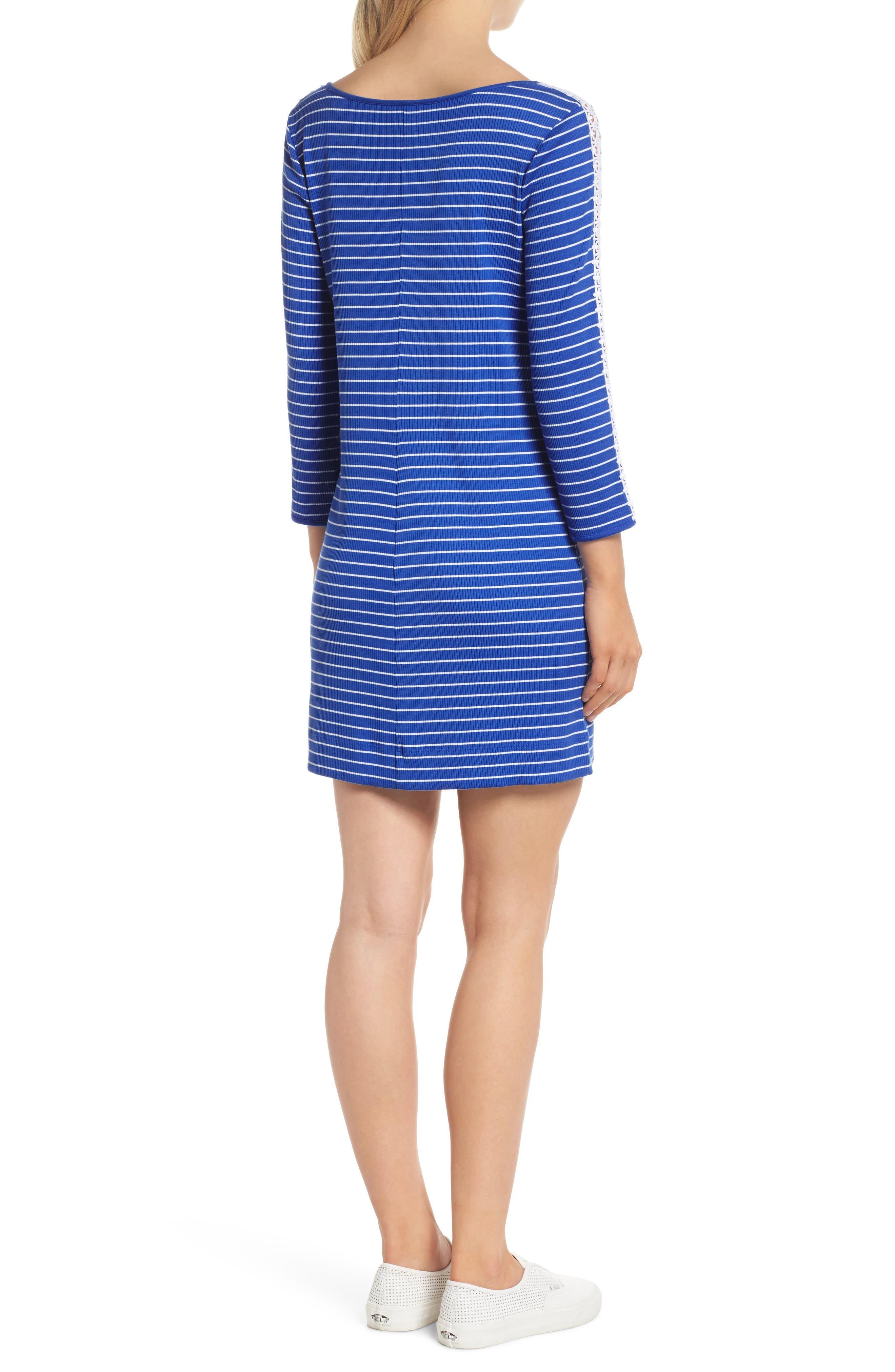 Marlowe Shift Dress,                             Alternate thumbnail 2, color,                             Beckon Blue Breeze Stripe
