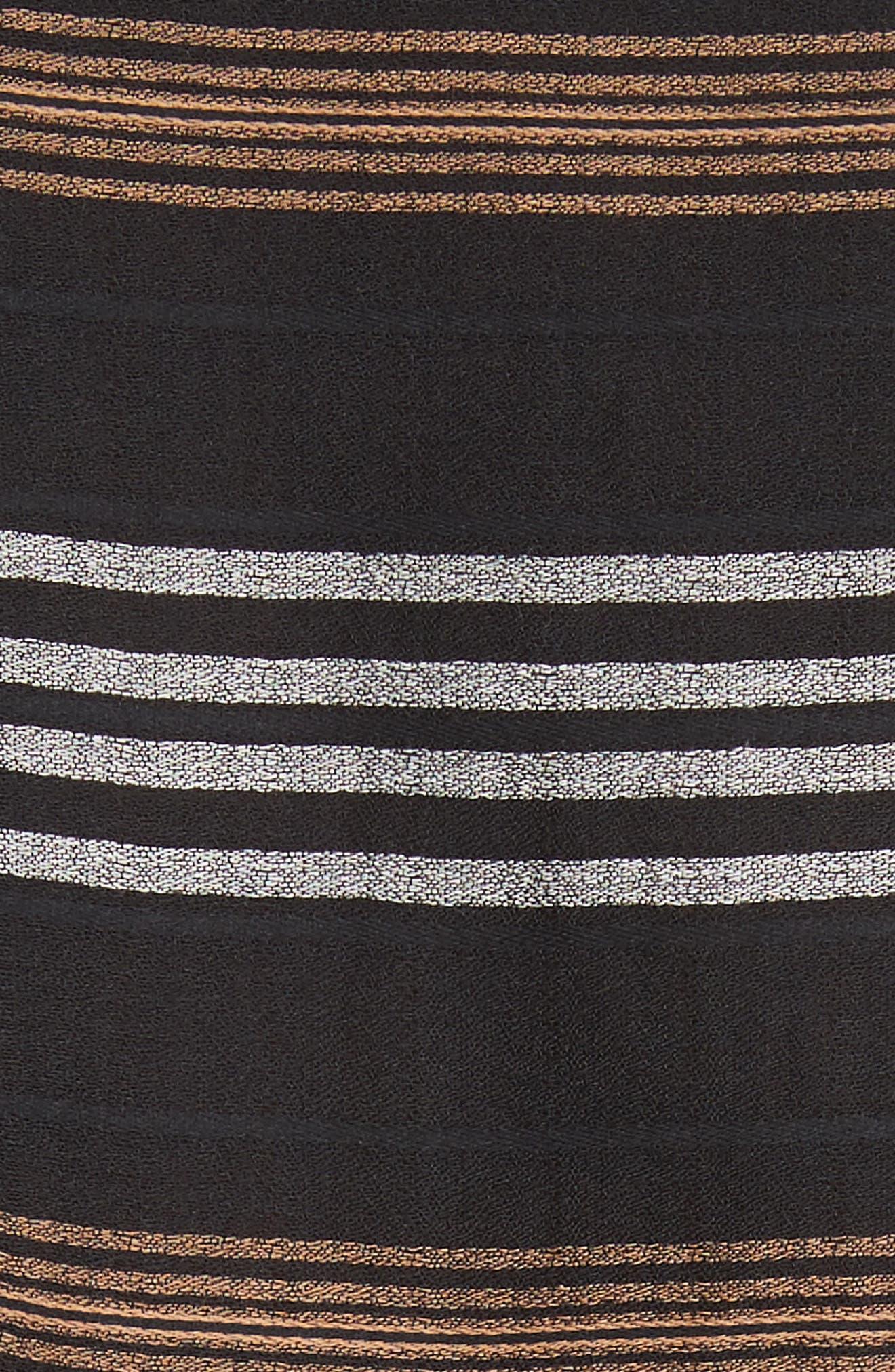 Emory Stripe Shirtdress,                             Alternate thumbnail 5, color,                             Black Multi