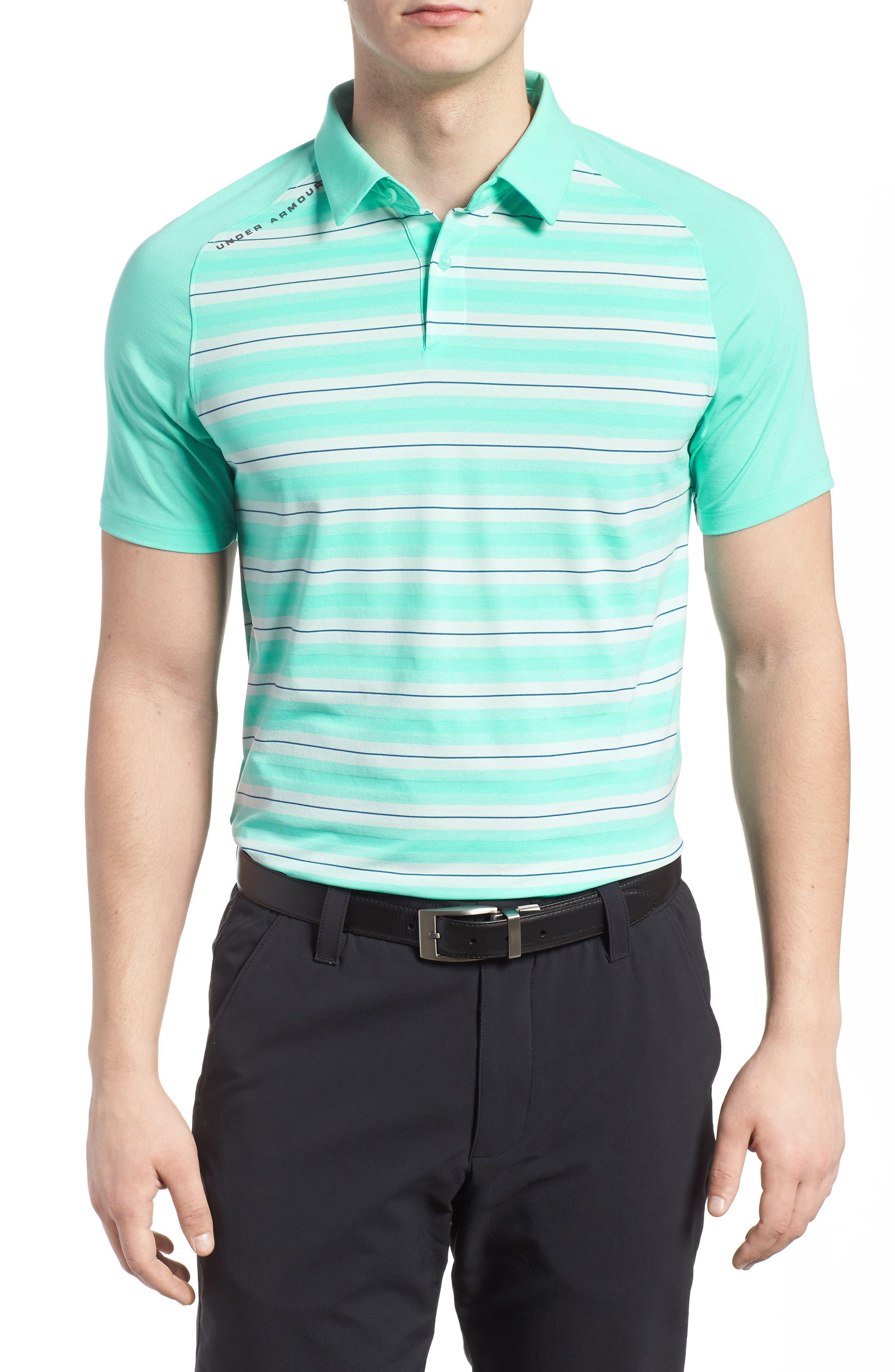 Main Image - Under Armour Threadborne Boundless Regular Fit Polo Shirt