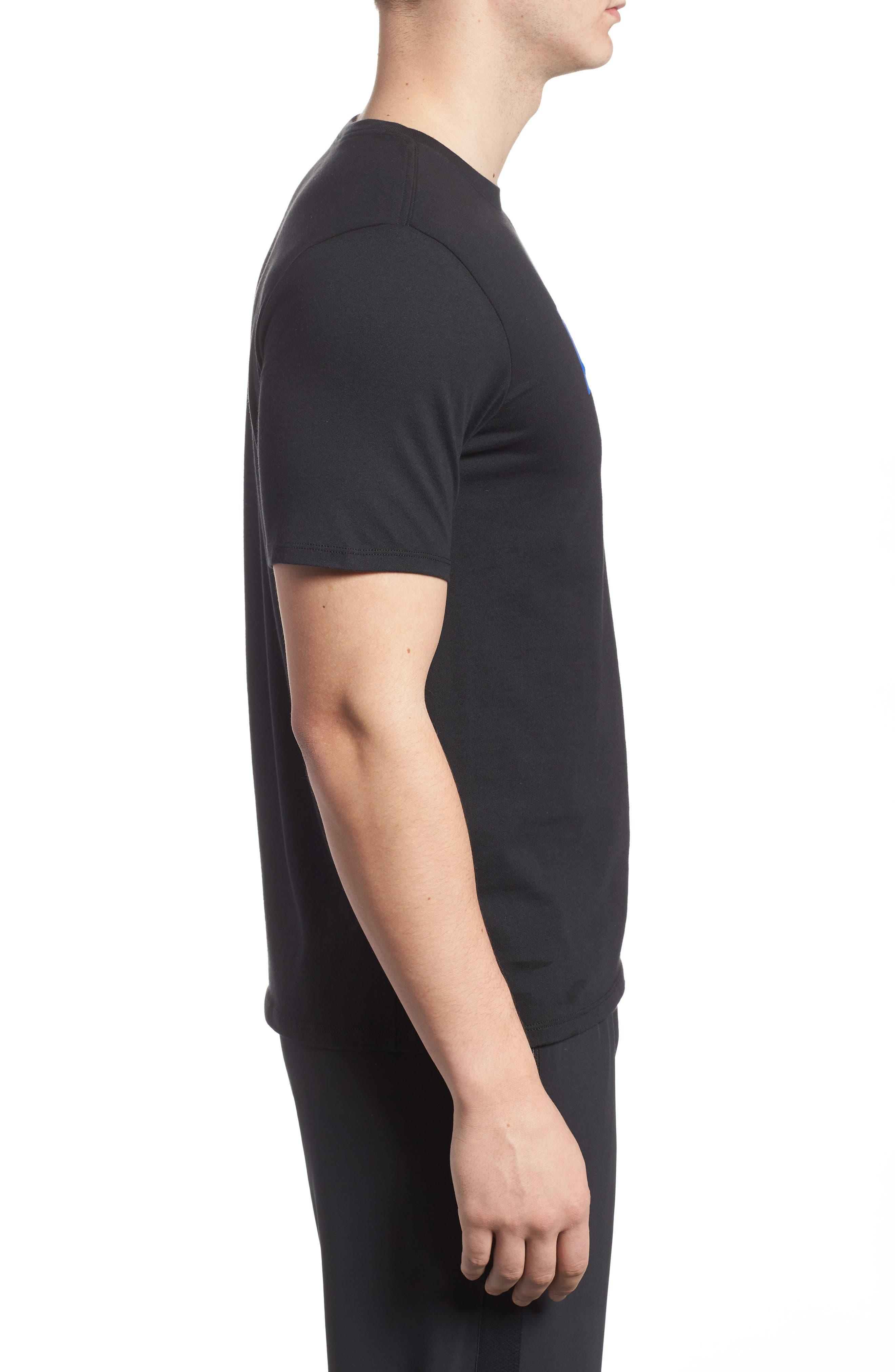 Dry Hoops T-Shirt,                             Alternate thumbnail 3, color,                             Black/ White