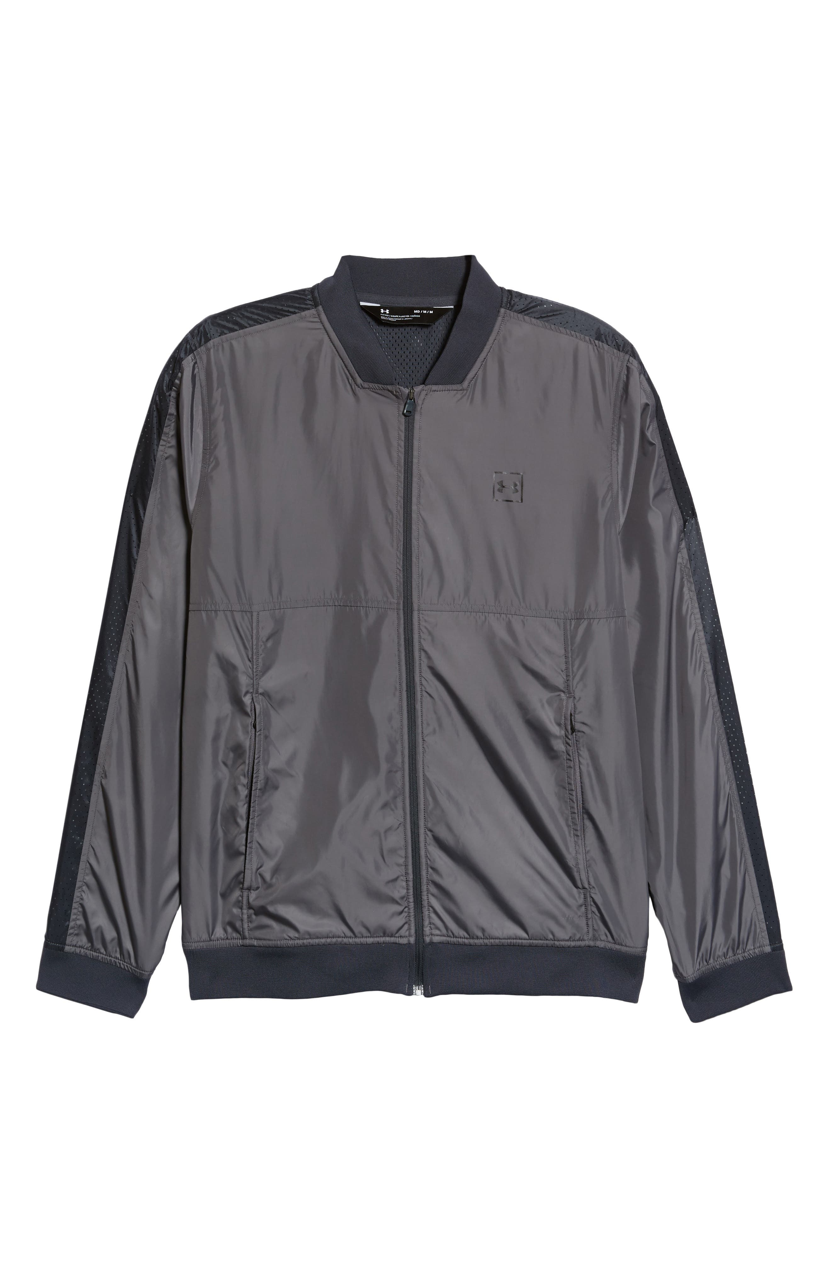 Sportstyle Wind Bomber Jacket,                             Alternate thumbnail 6, color,                             Graphite/ Black