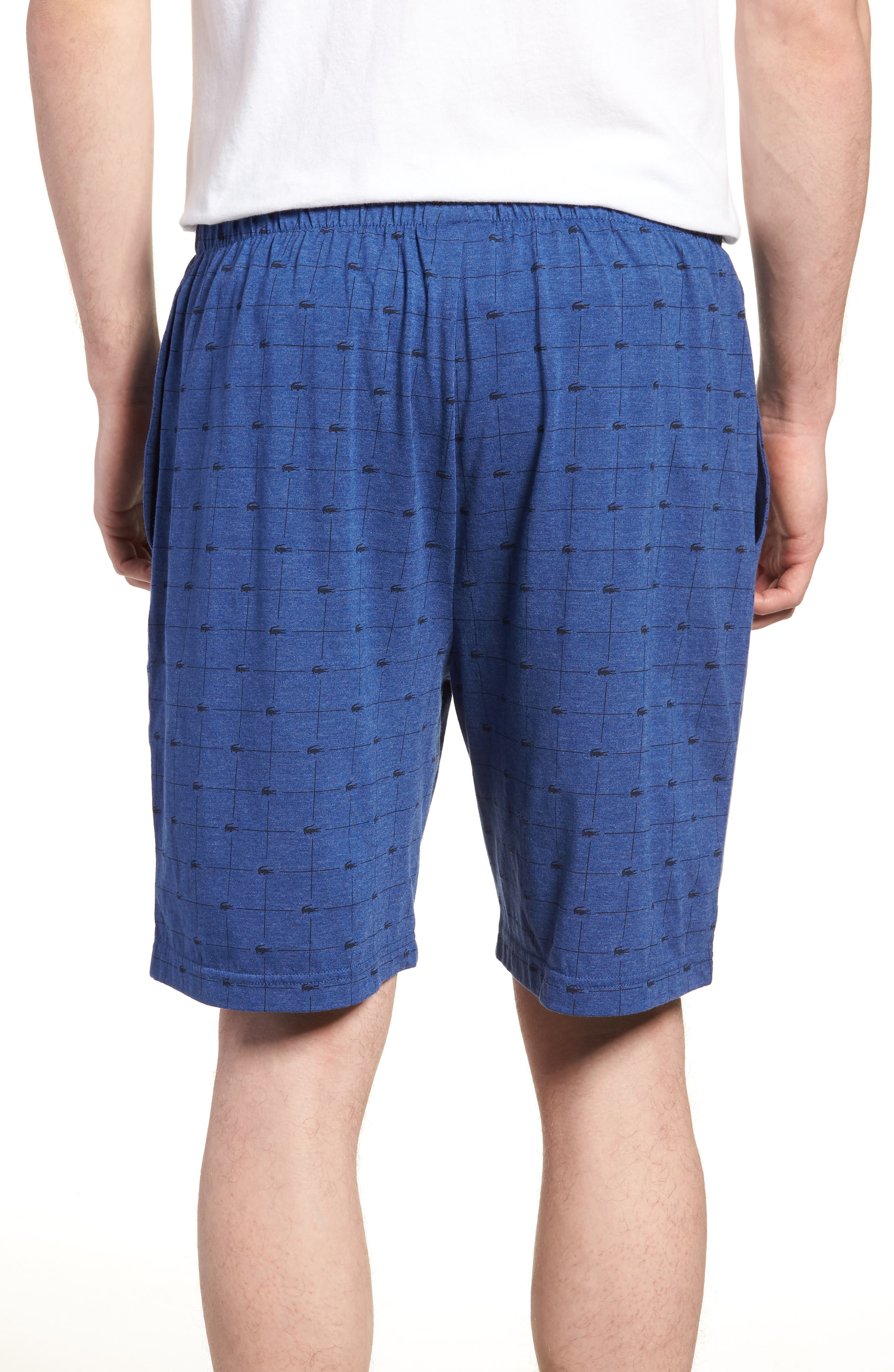 Knit Cotton Lounge Shorts,                             Alternate thumbnail 2, color,                             Classic Blue
