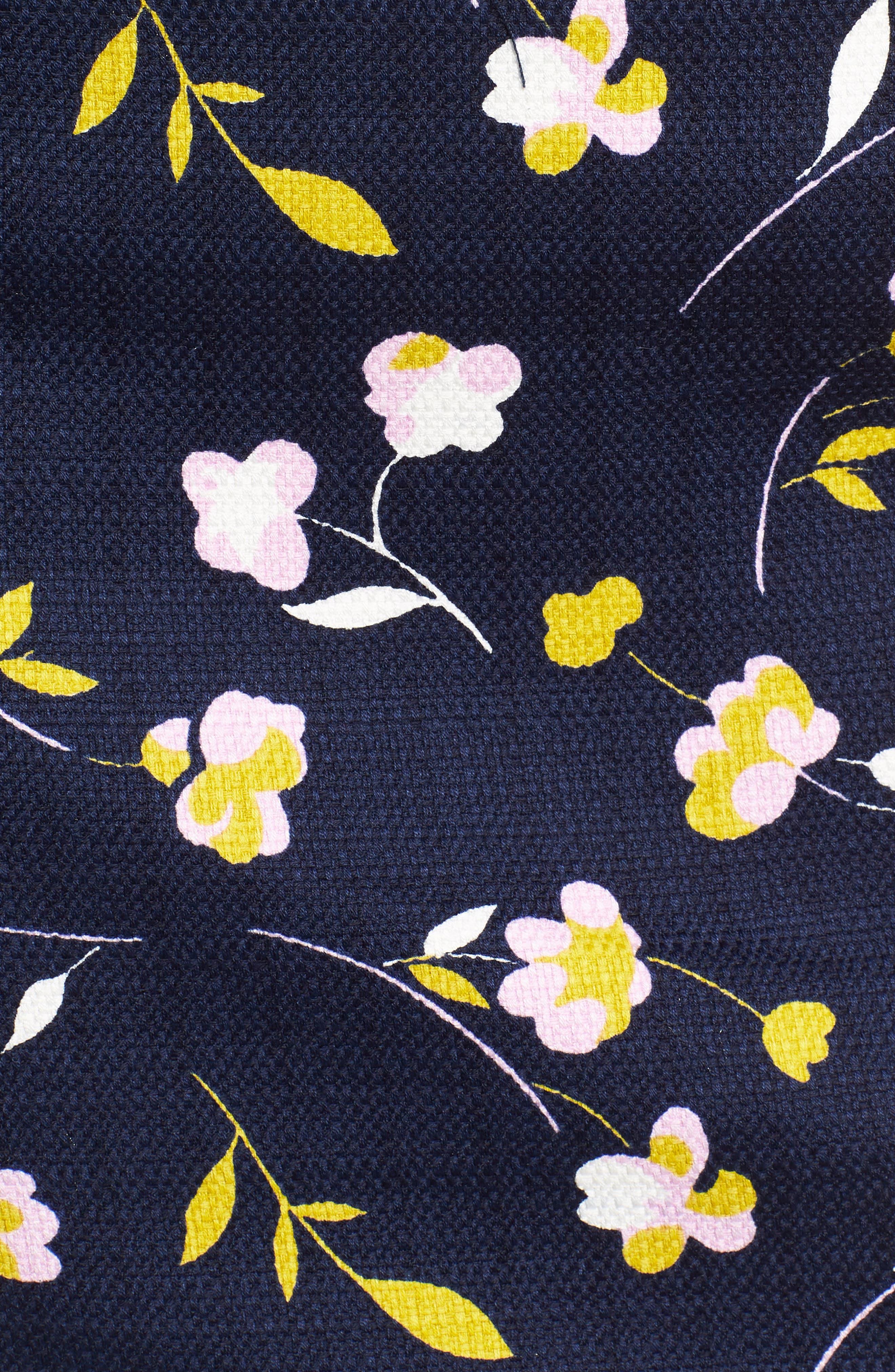 Martha Floral Pencil Skirt,                             Alternate thumbnail 6, color,                             Rosebay/ Wildflower