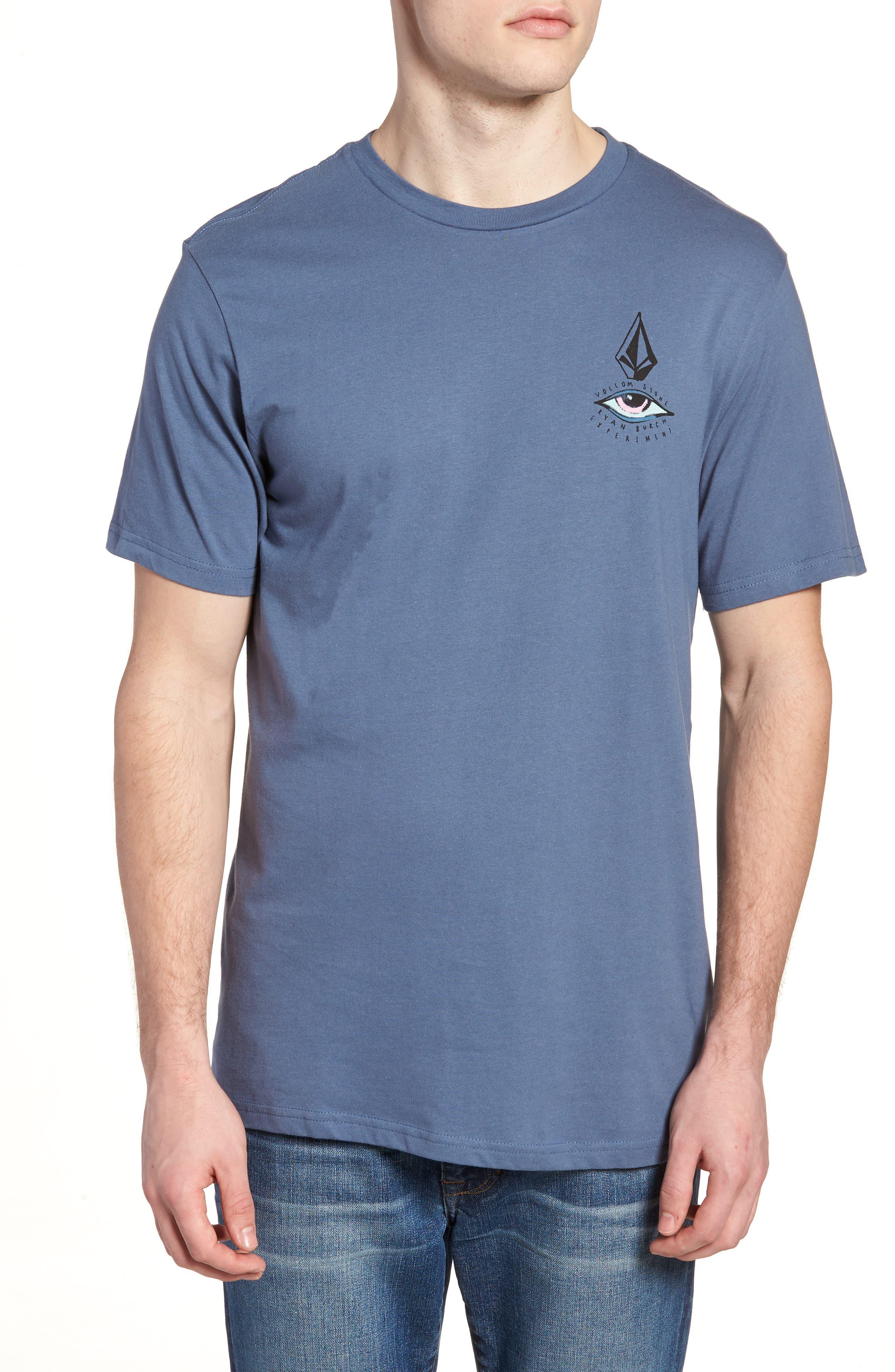Burch Eye Graphic T-Shirt,                             Main thumbnail 1, color,                             Deep Blue