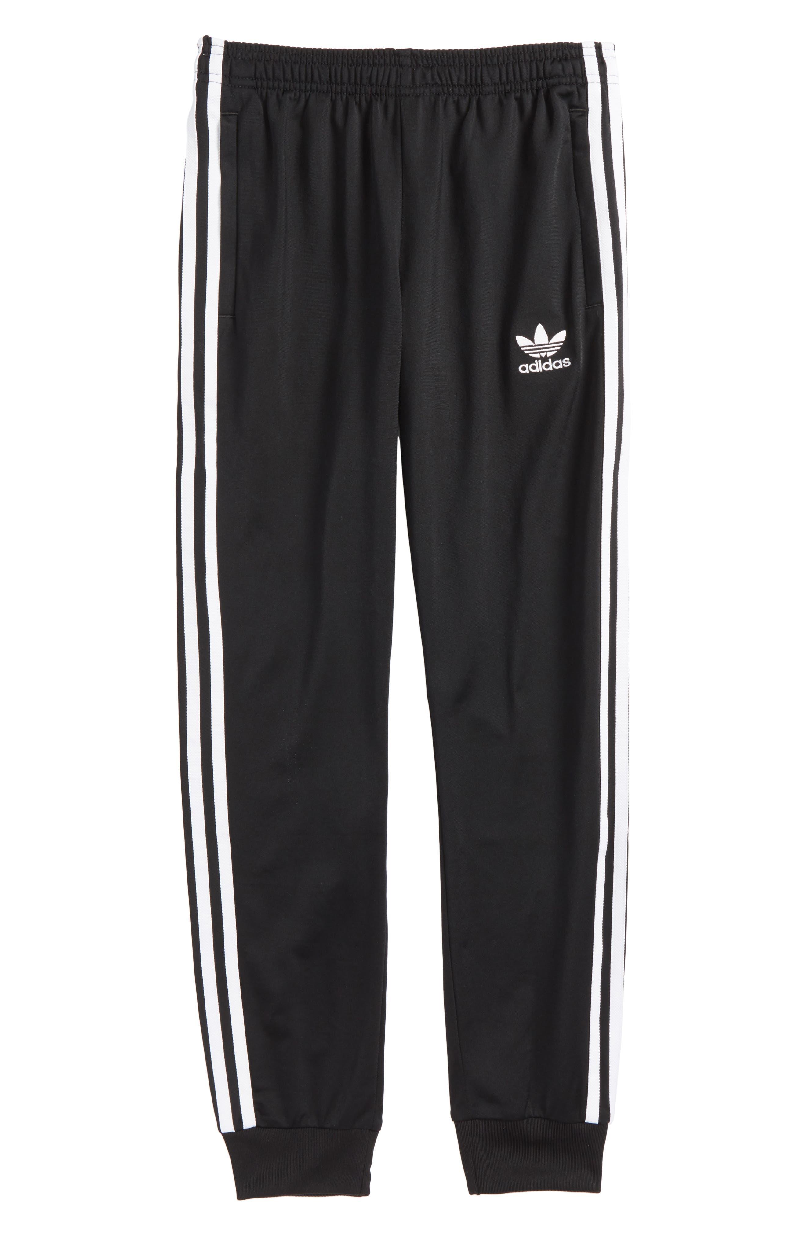 SST Track Pants,                         Main,                         color, Black/ White