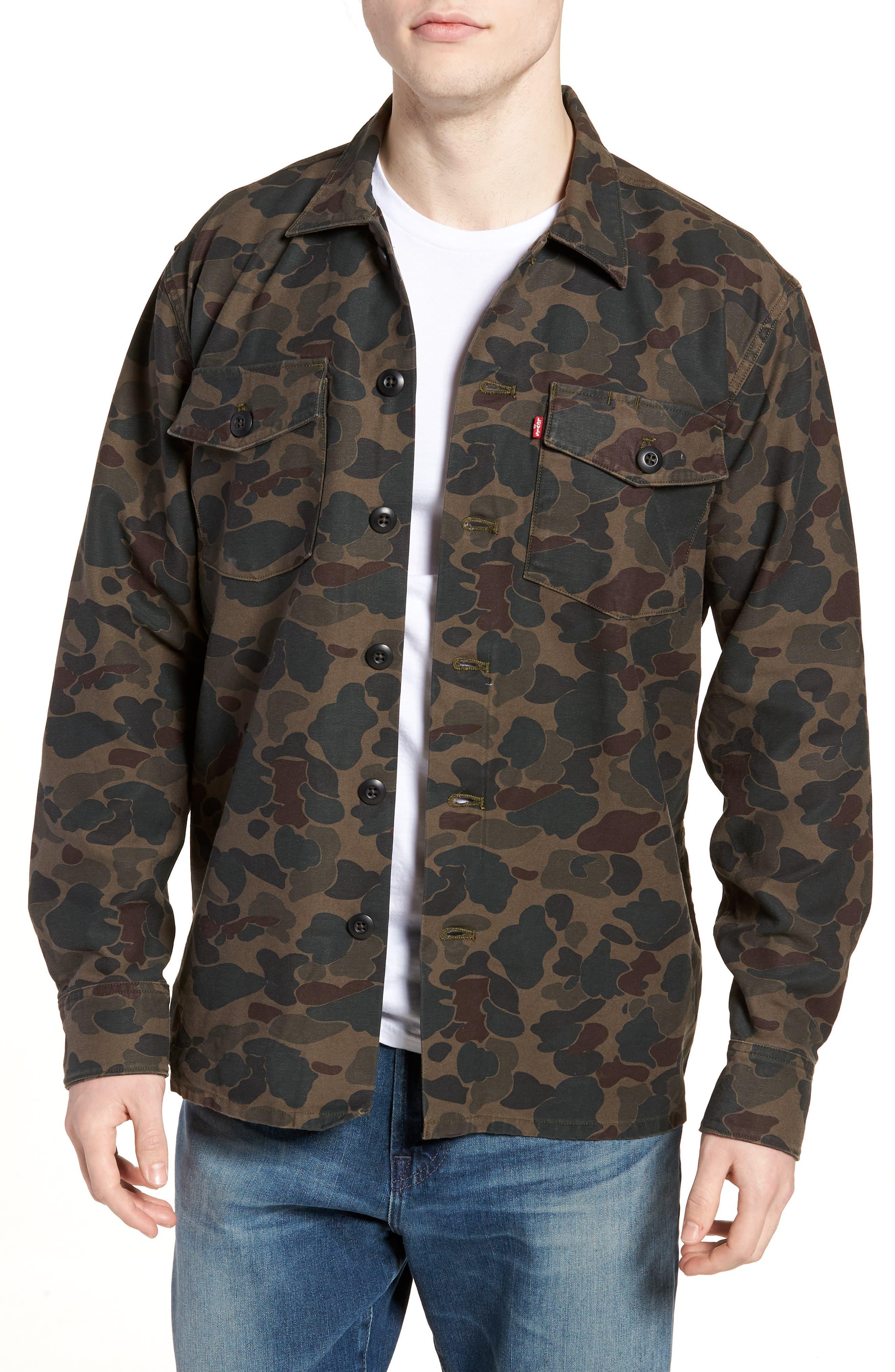Military Jacket,                         Main,                         color, Camo