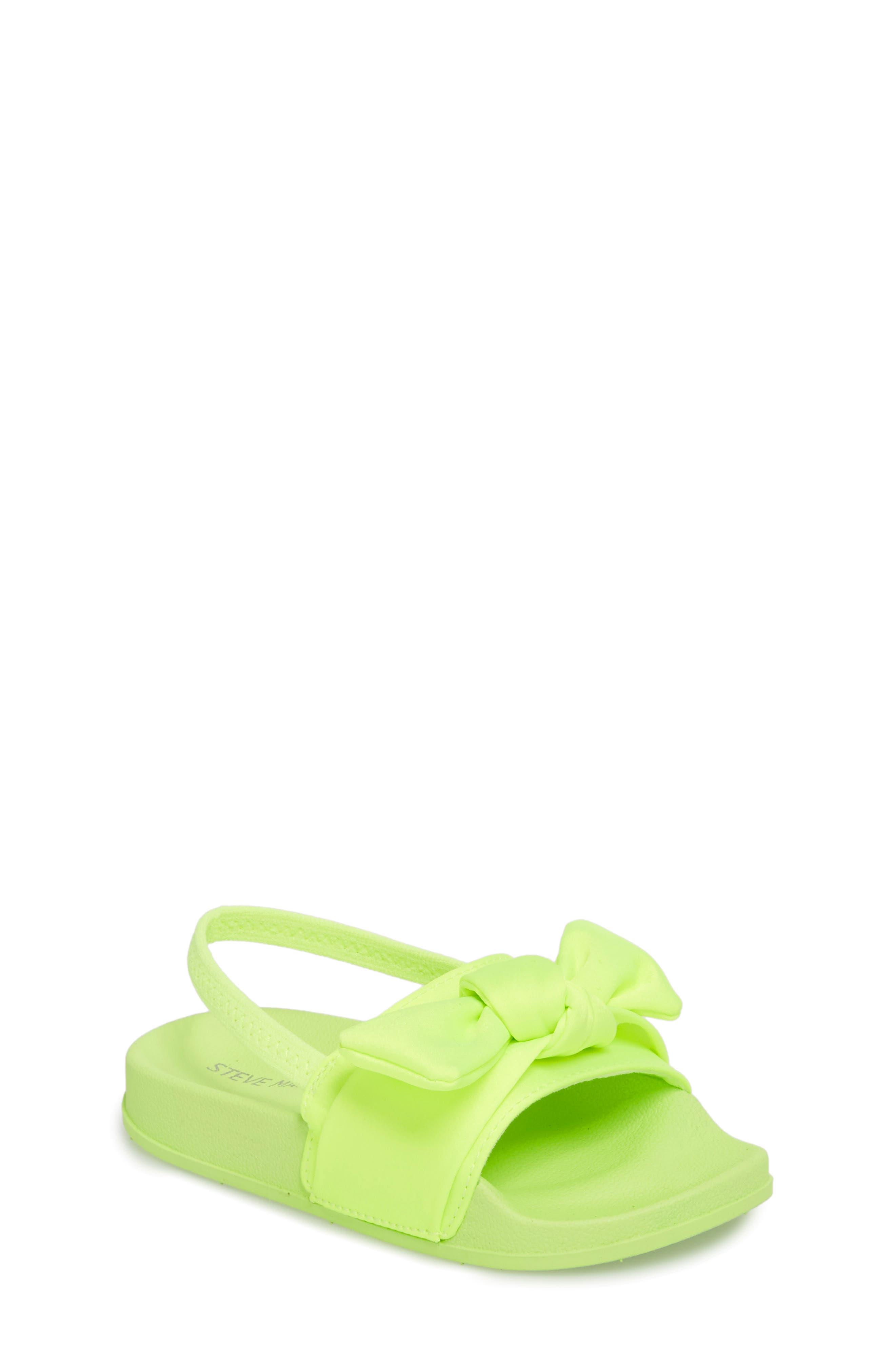 Tsilky Knotted Slide Sandal,                             Main thumbnail 1, color,                             Citron