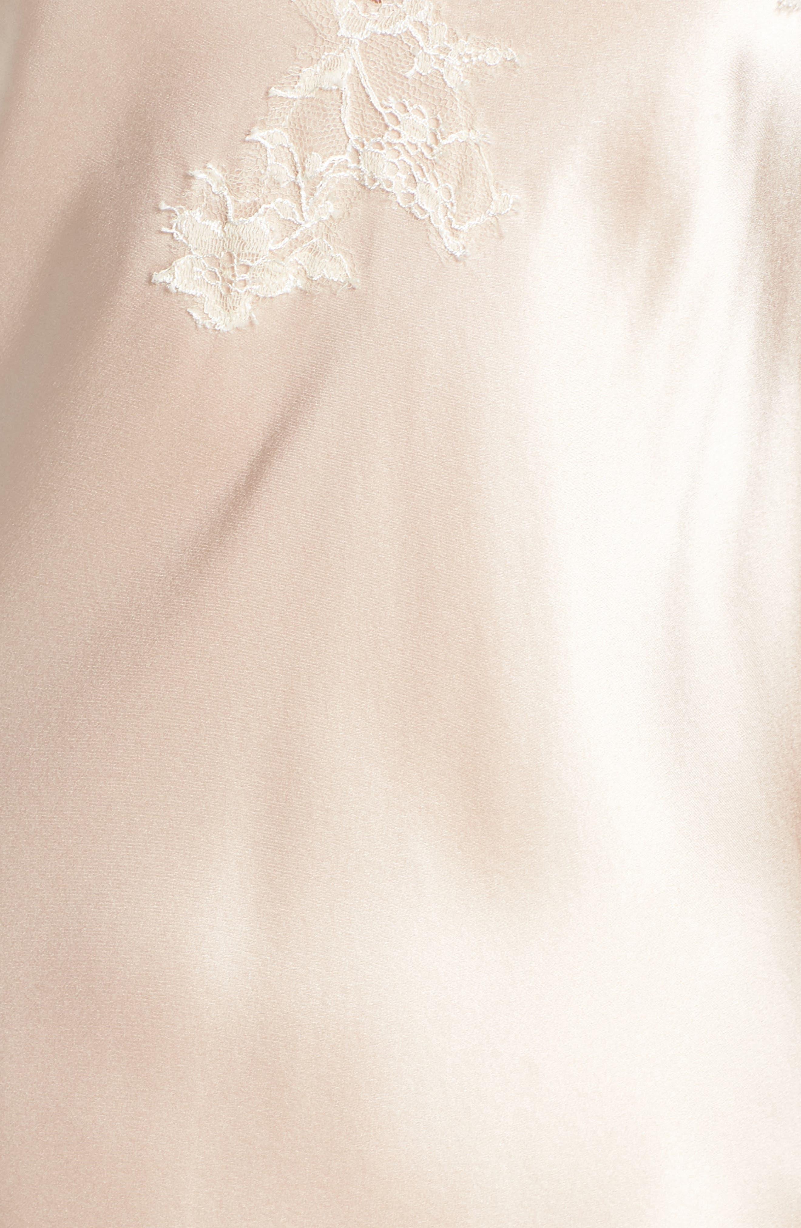 Alternate Image 6  - Christine Lingerie Lace Trim Silk Chemise