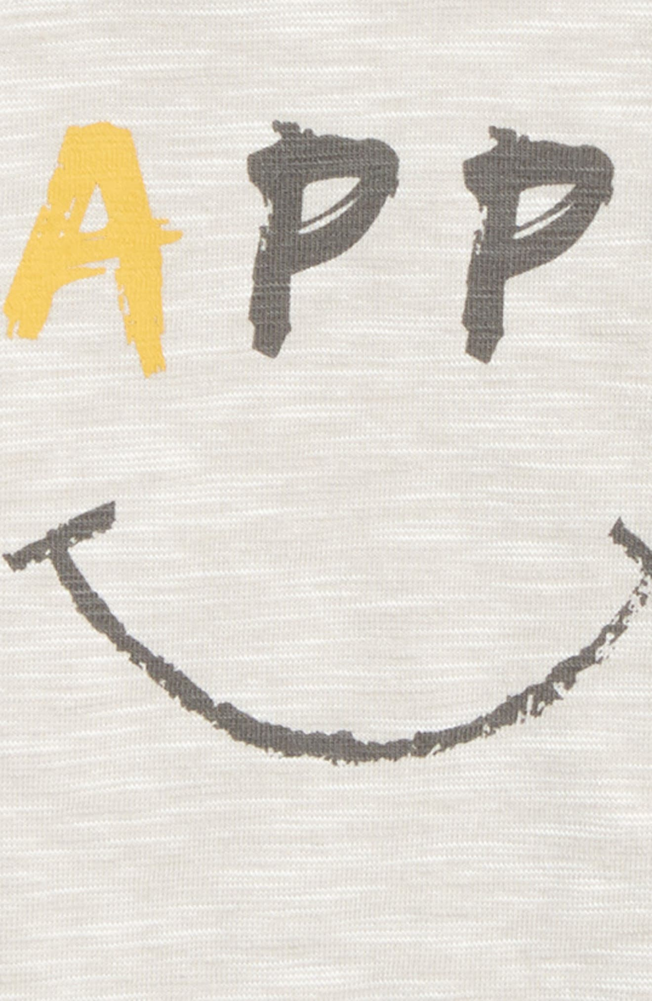Happy Graphic T-Shirt,                             Alternate thumbnail 2, color,                             Grey