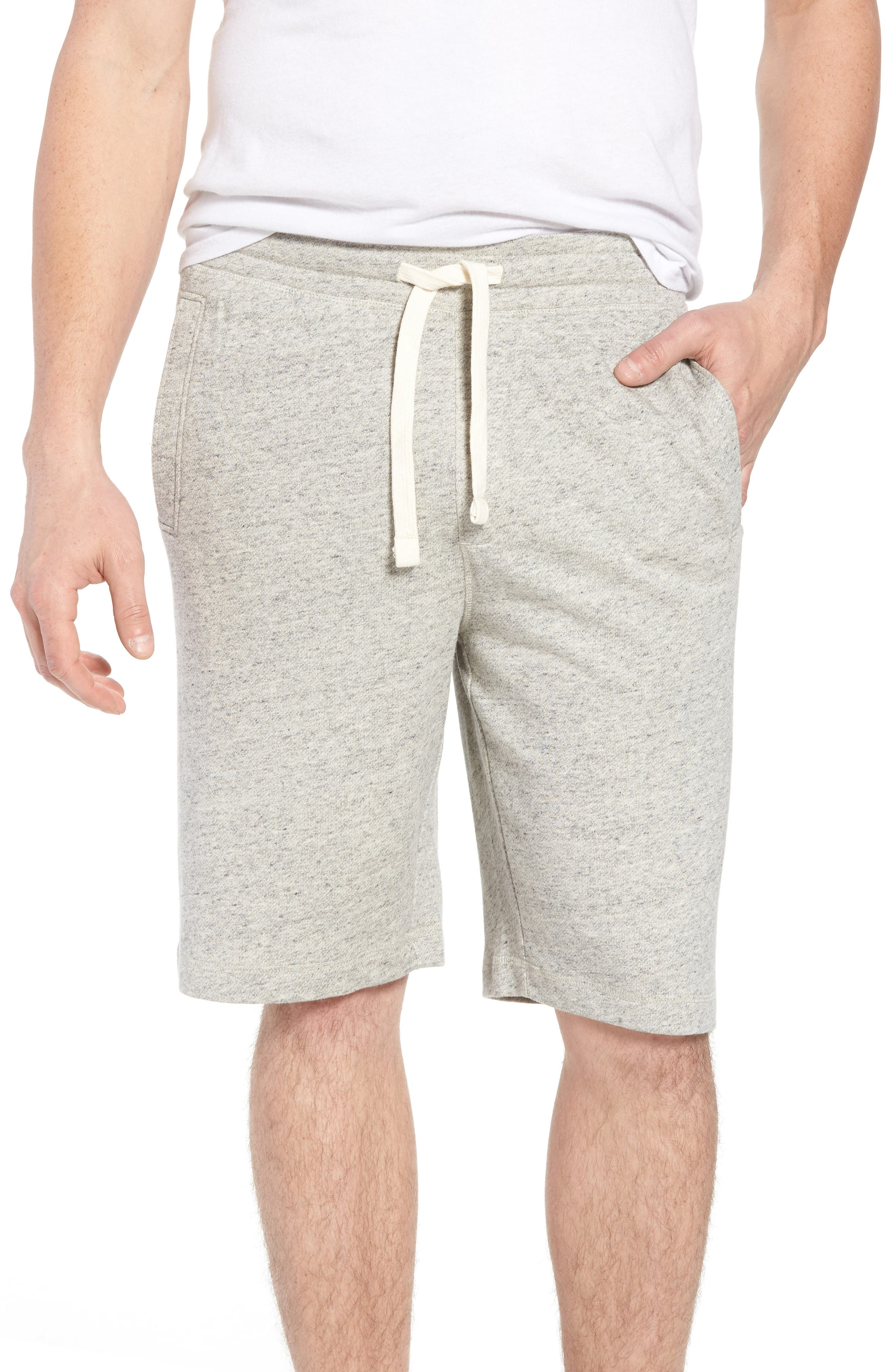 Stretch Cotton Terry Shorts,                         Main,                         color, Grey Heather