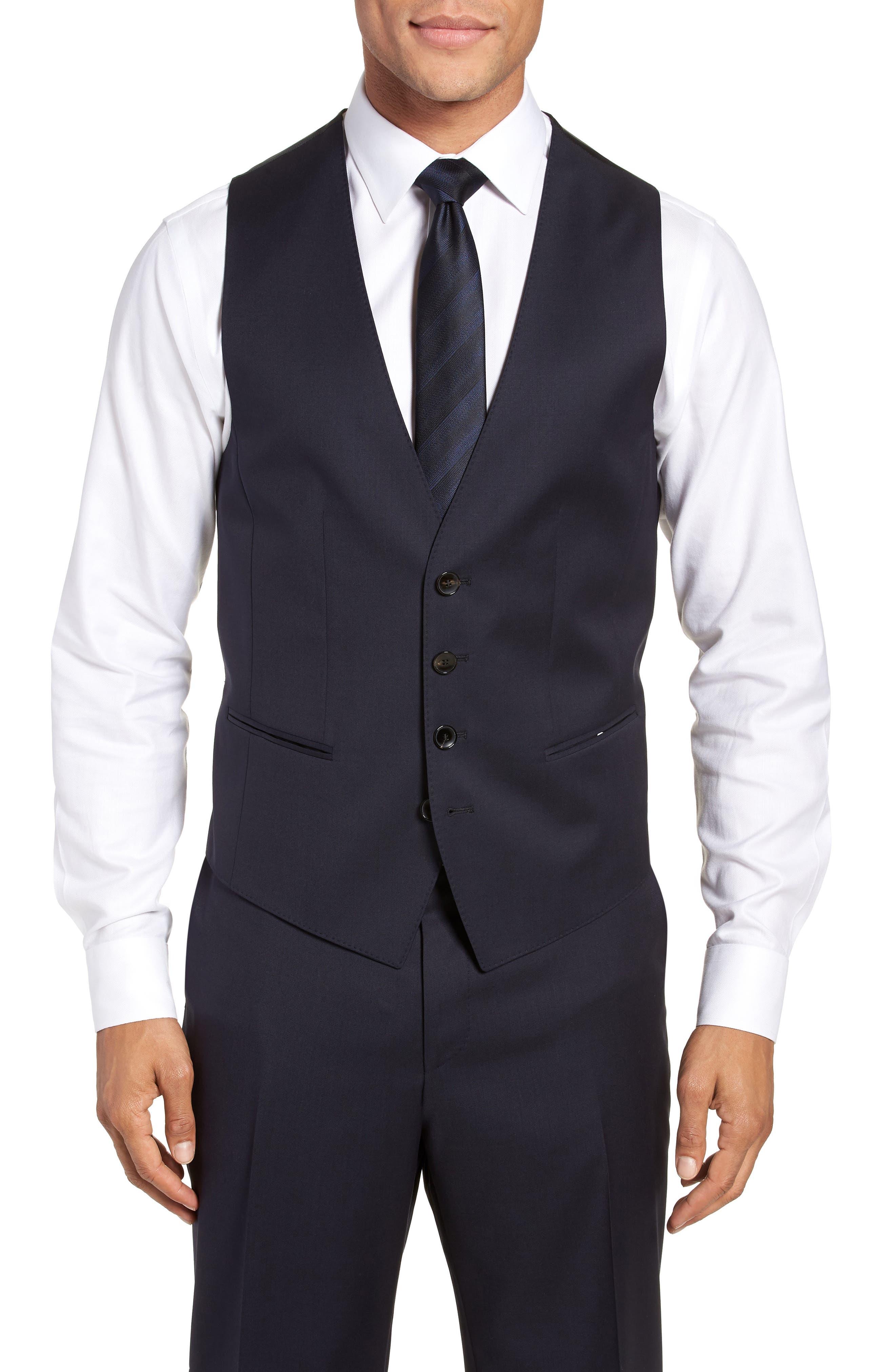 Wilson CYL Trim Fit Vest,                         Main,                         color, Dark Blue