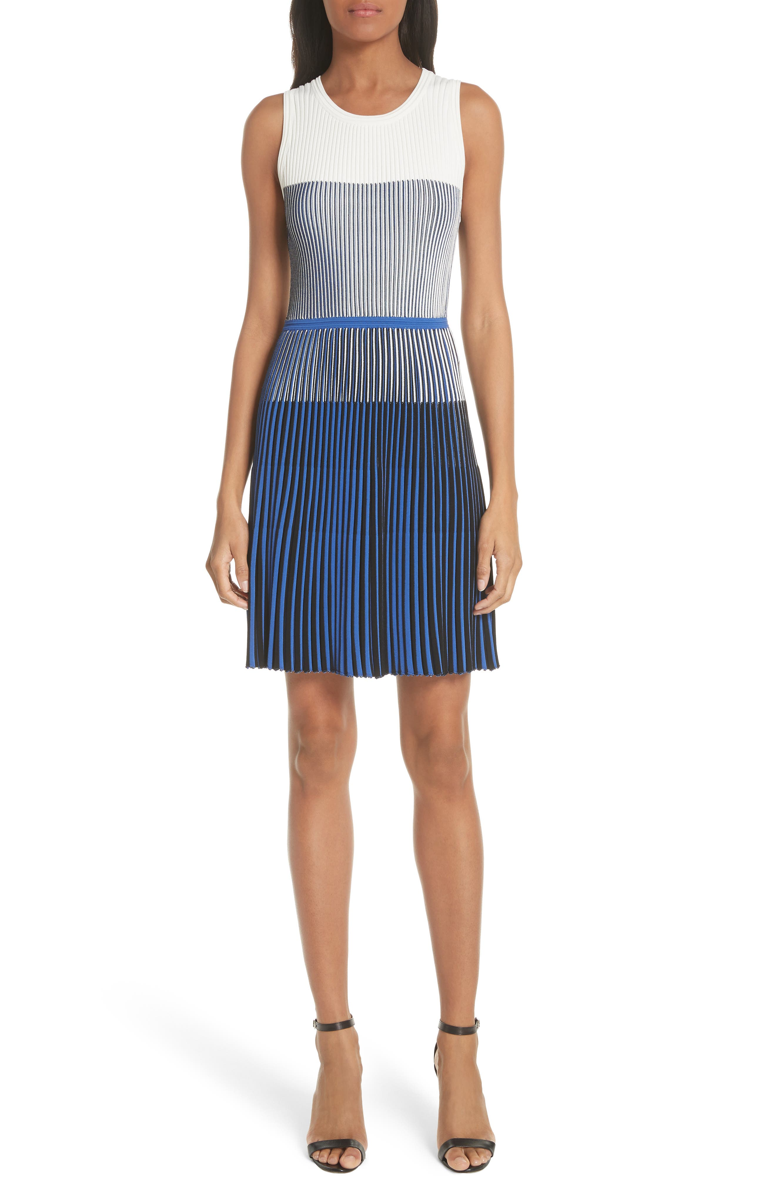 Milly Ombré Textured Flare Dress