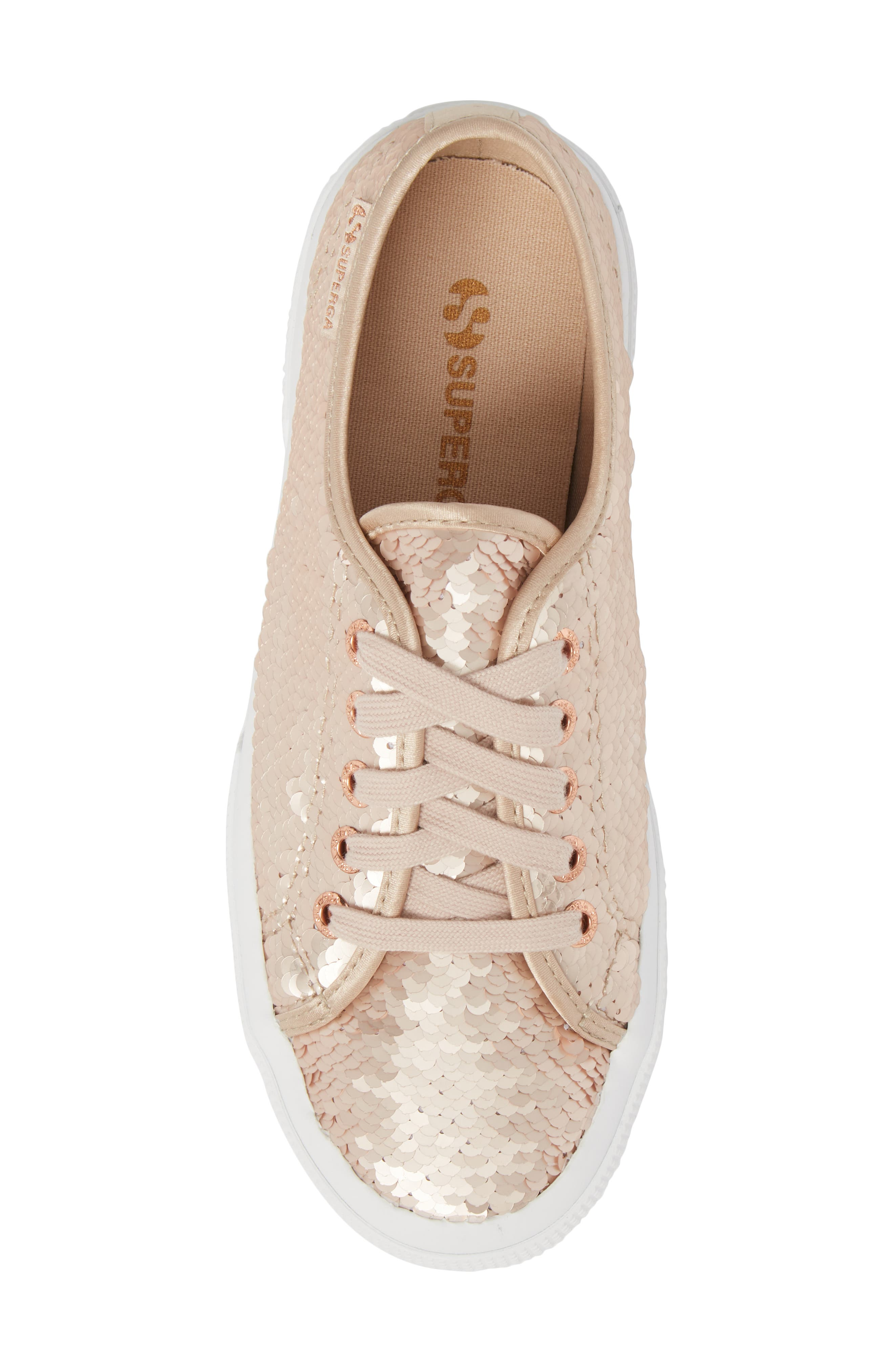 2750 Pairidescent Low Top Sneaker,                             Alternate thumbnail 5, color,                             Rose Gold/ Rose Gold