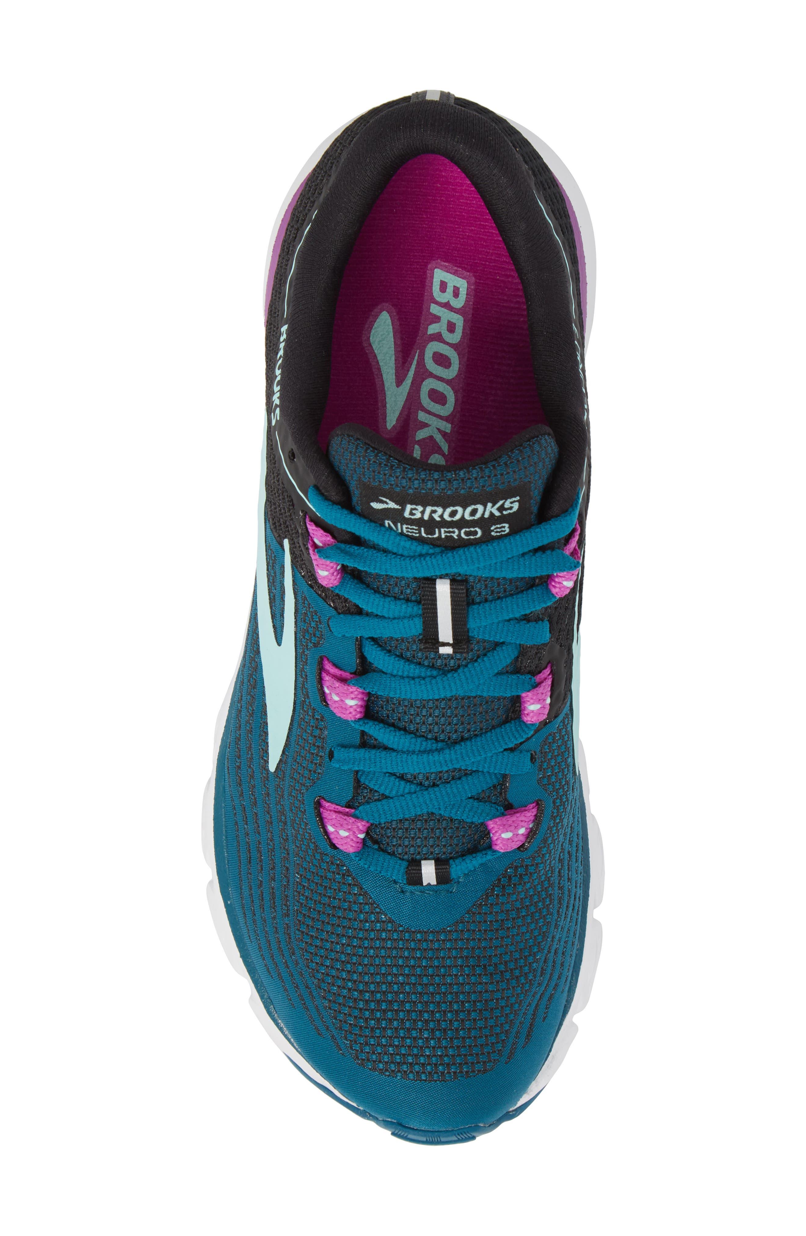 Neuro 3 Running Shoe,                             Alternate thumbnail 5, color,                             Lagoon/ Black/ Purple