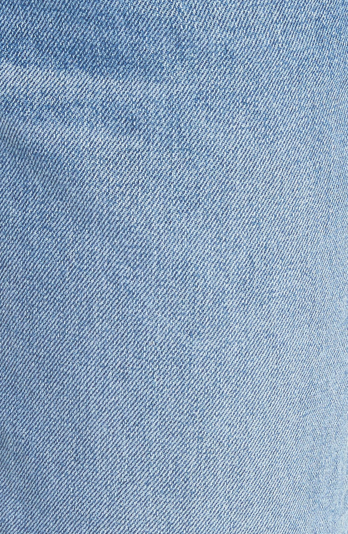 Helena Grommet Detail Straight Leg Crop Jeans,                             Alternate thumbnail 5, color,                             Blue