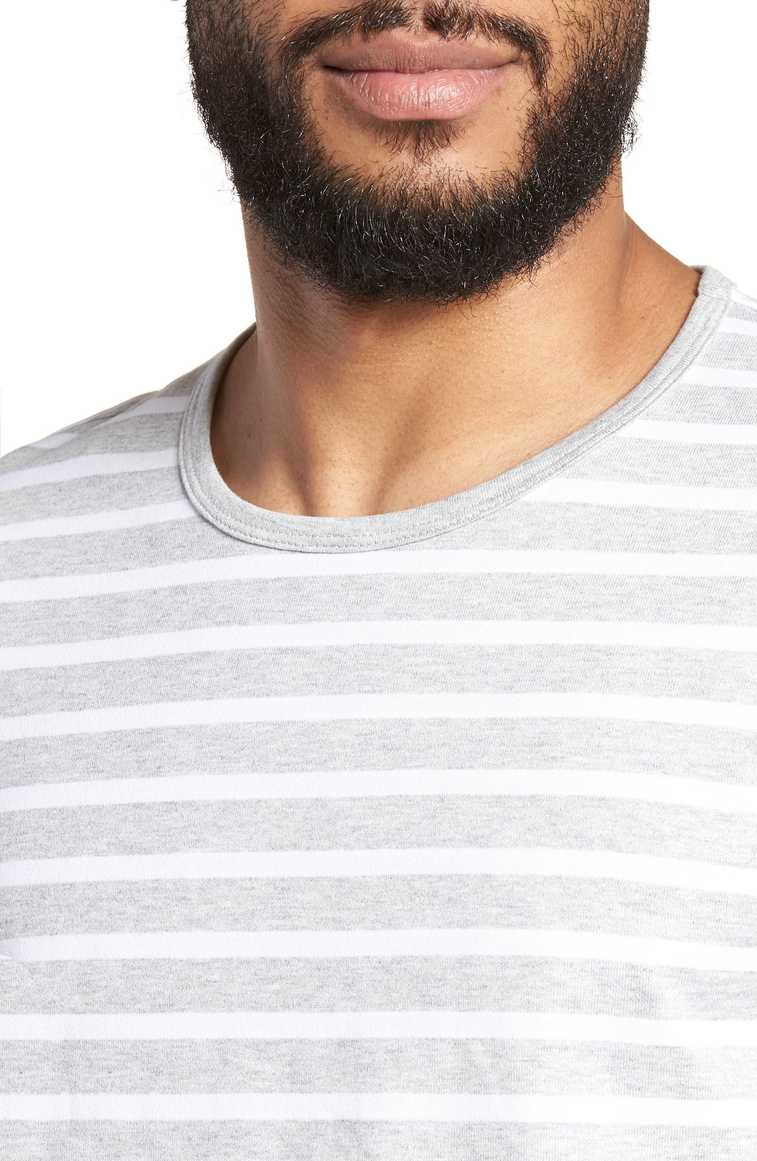 Tessler Slim Fit Crewneck T-Shirt,                             Alternate thumbnail 4, color,                             Grey