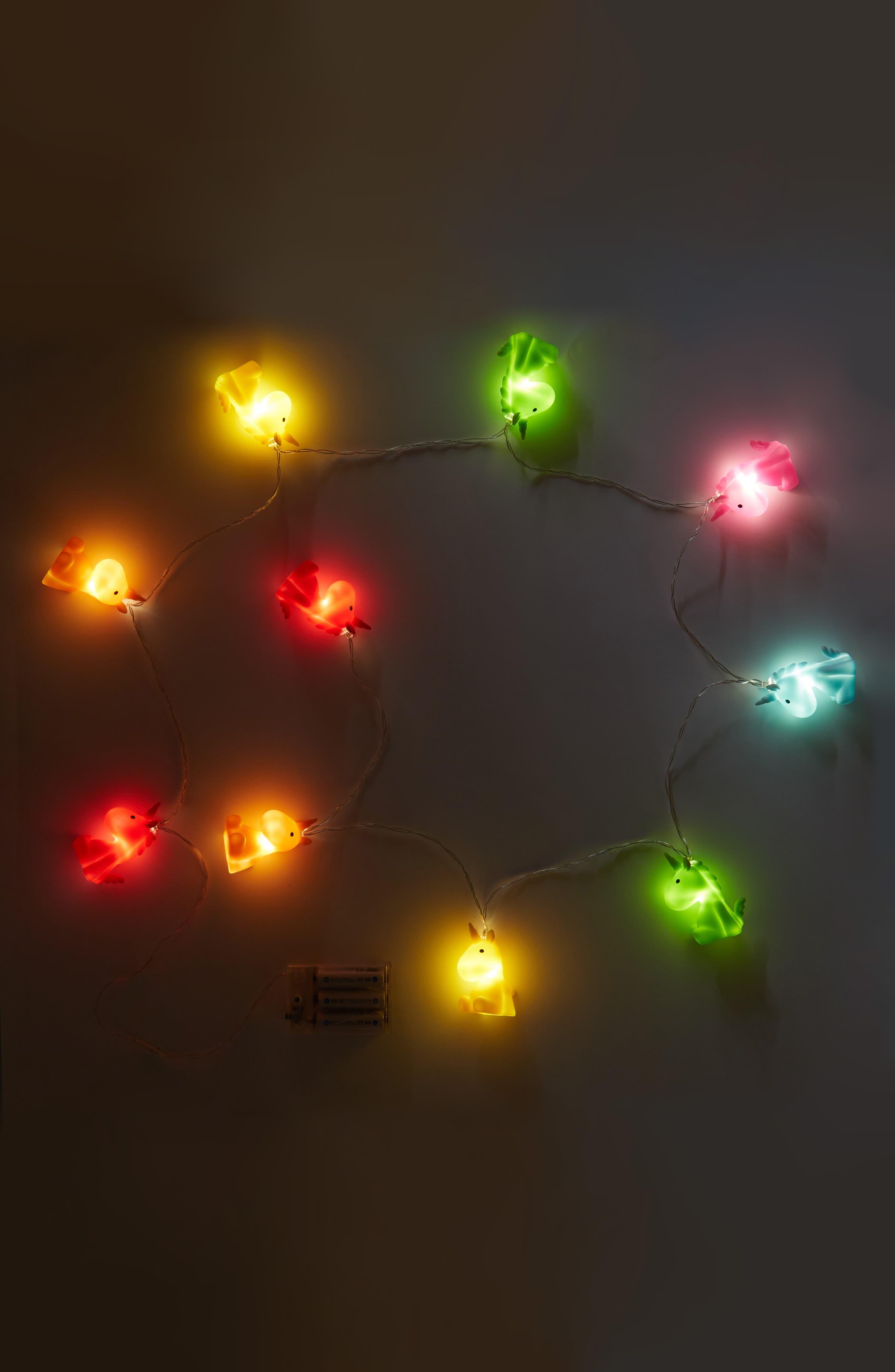Alternate Image 2  - Iscream Unicorn Multicolor LED String Lights