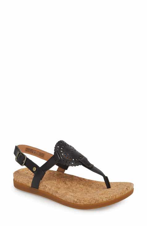 Women S Black Flat Heeled Sandals Nordstrom