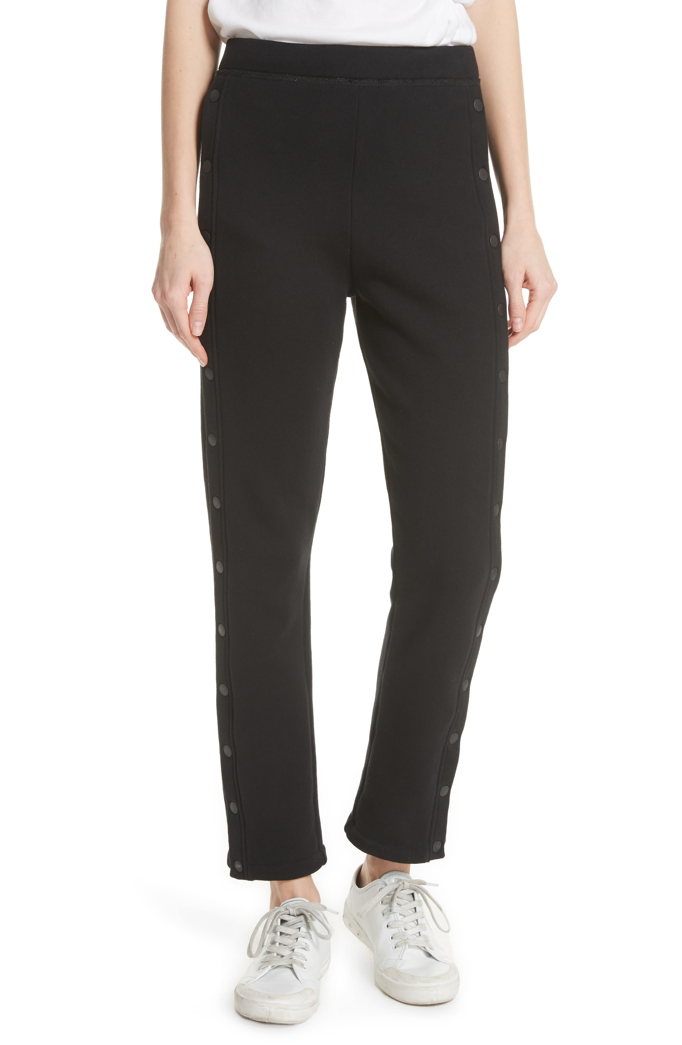 Side Snap Track Pants,                         Main,                         color, Black