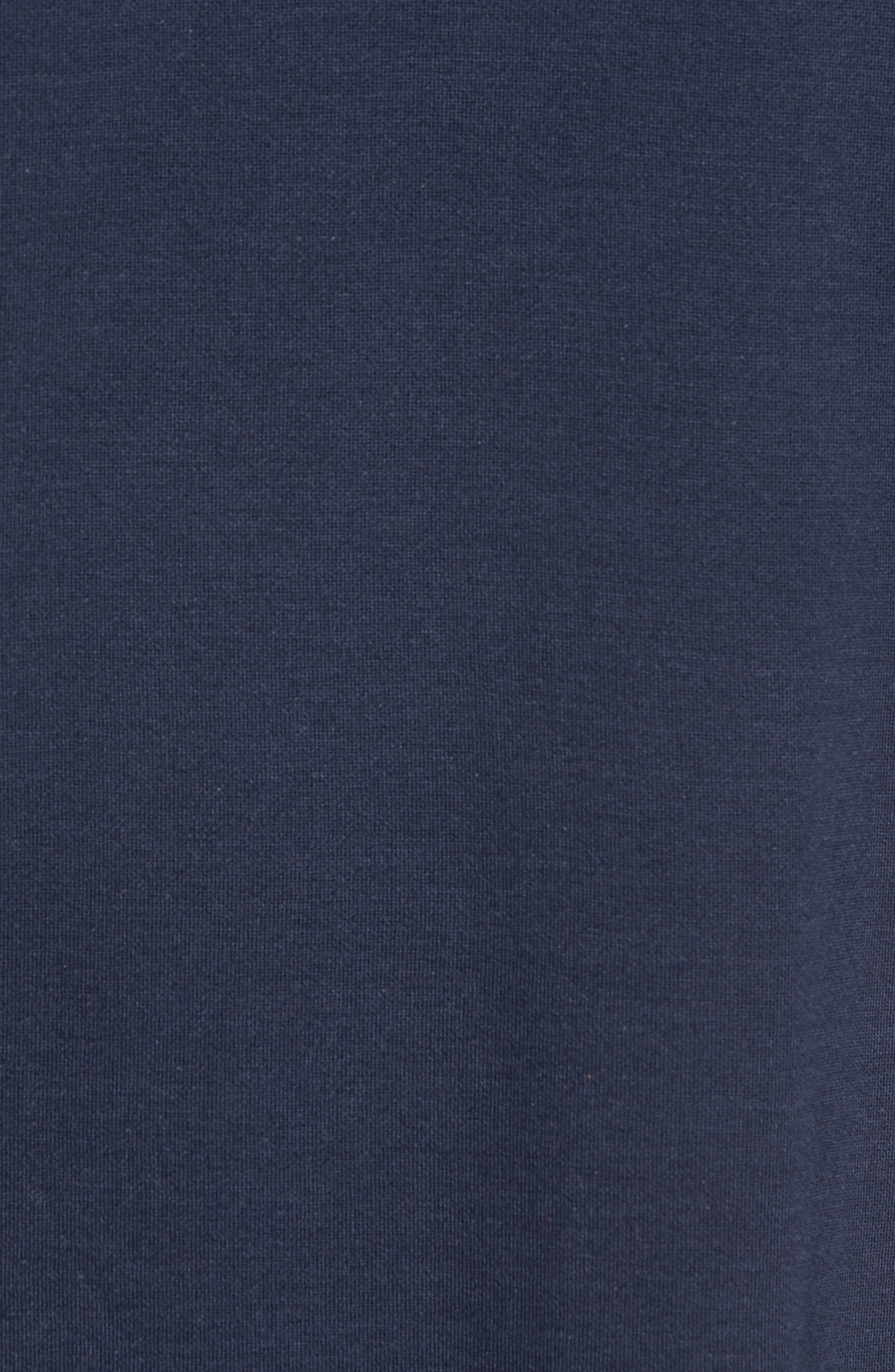 Trim Fit Colorblock Short Sleeve Polo,                             Alternate thumbnail 5, color,                             Navy Black