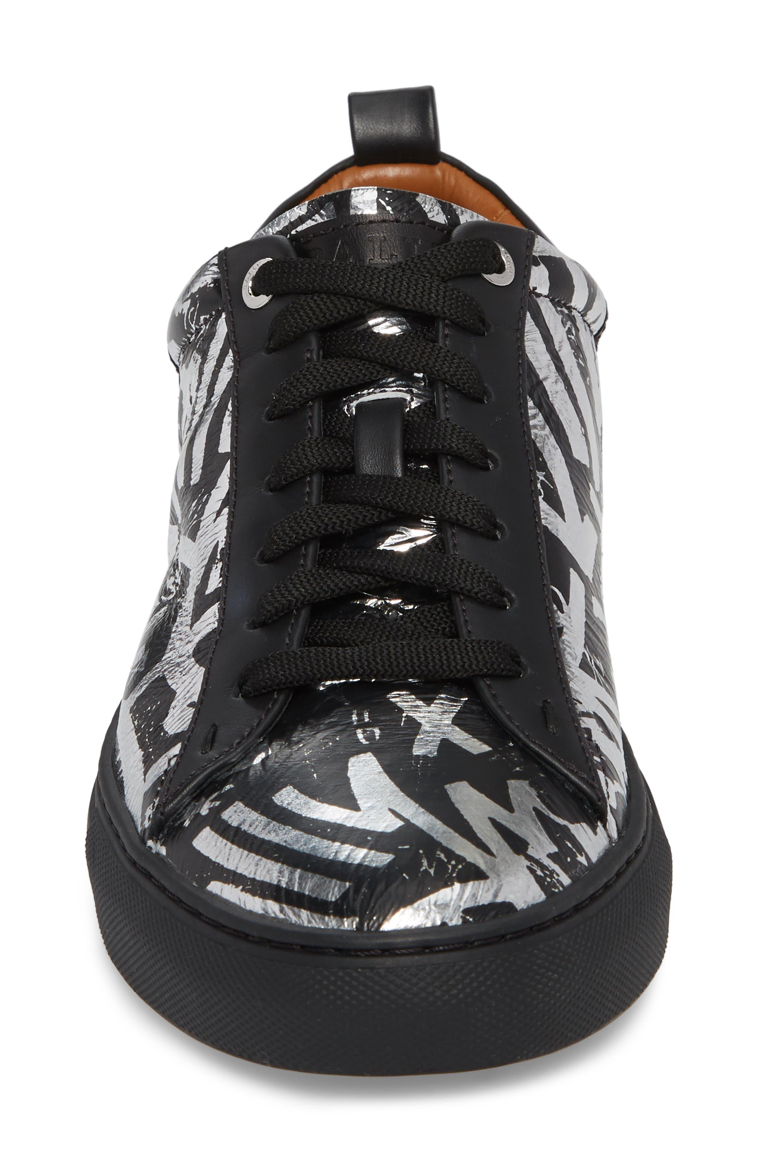 Herbi Low Top Sneaker,                             Alternate thumbnail 4, color,                             Silver