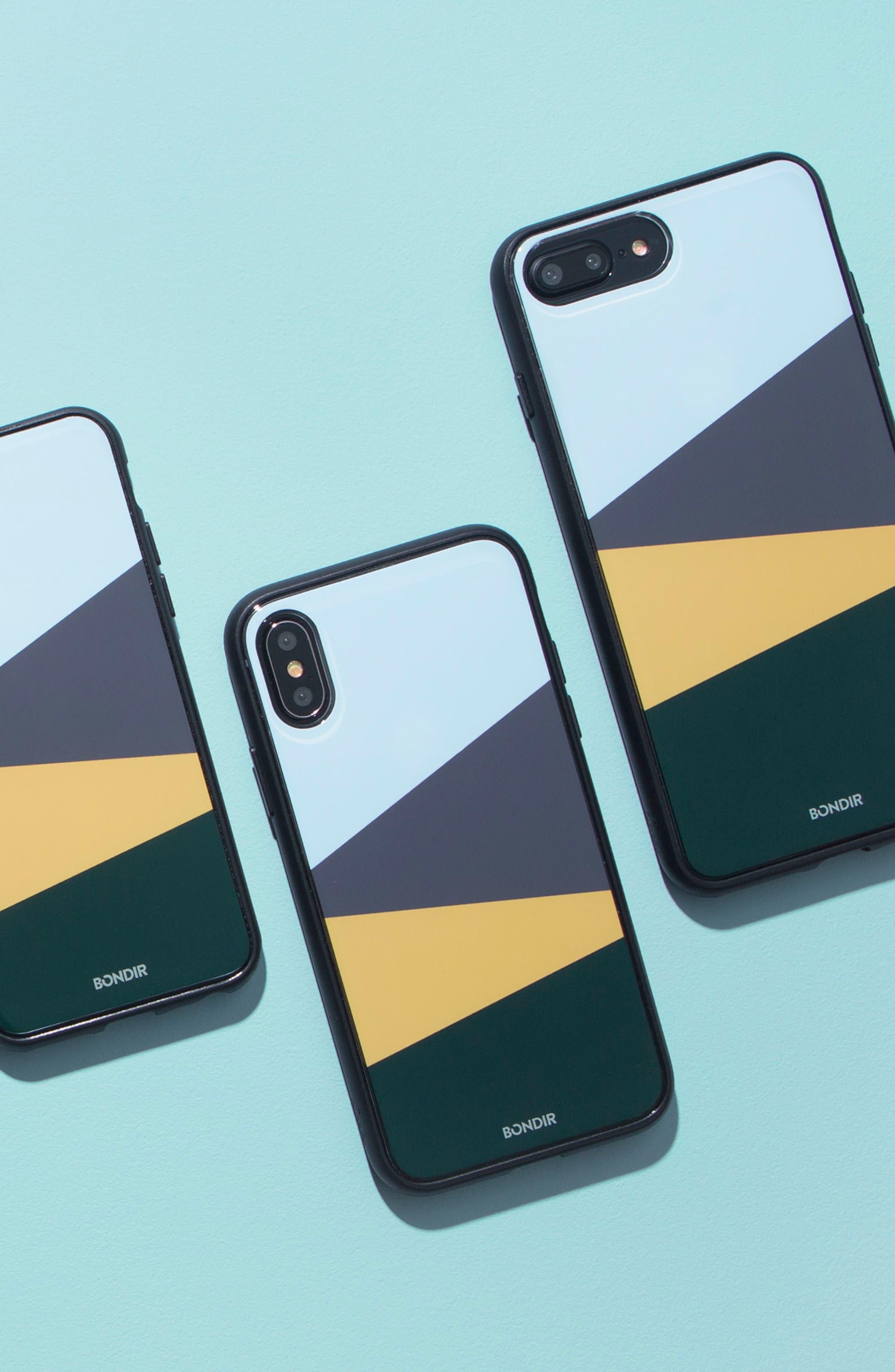 Colorblock iPhone 6/6s/7/8 & 6/6s/7/8 Plus Case,                             Alternate thumbnail 2, color,                             Blue/ Green