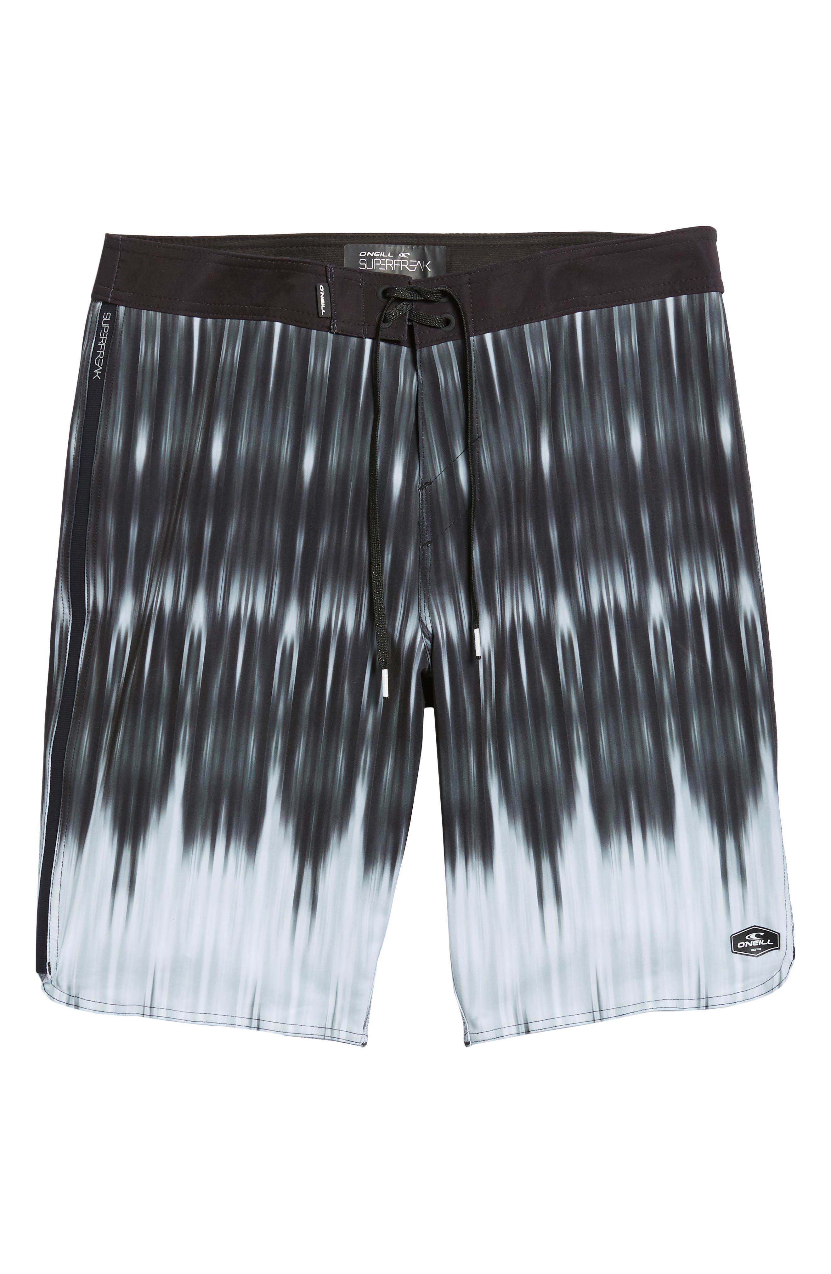 Superfreak Dimension Board Shorts,                             Alternate thumbnail 6, color,                             Black