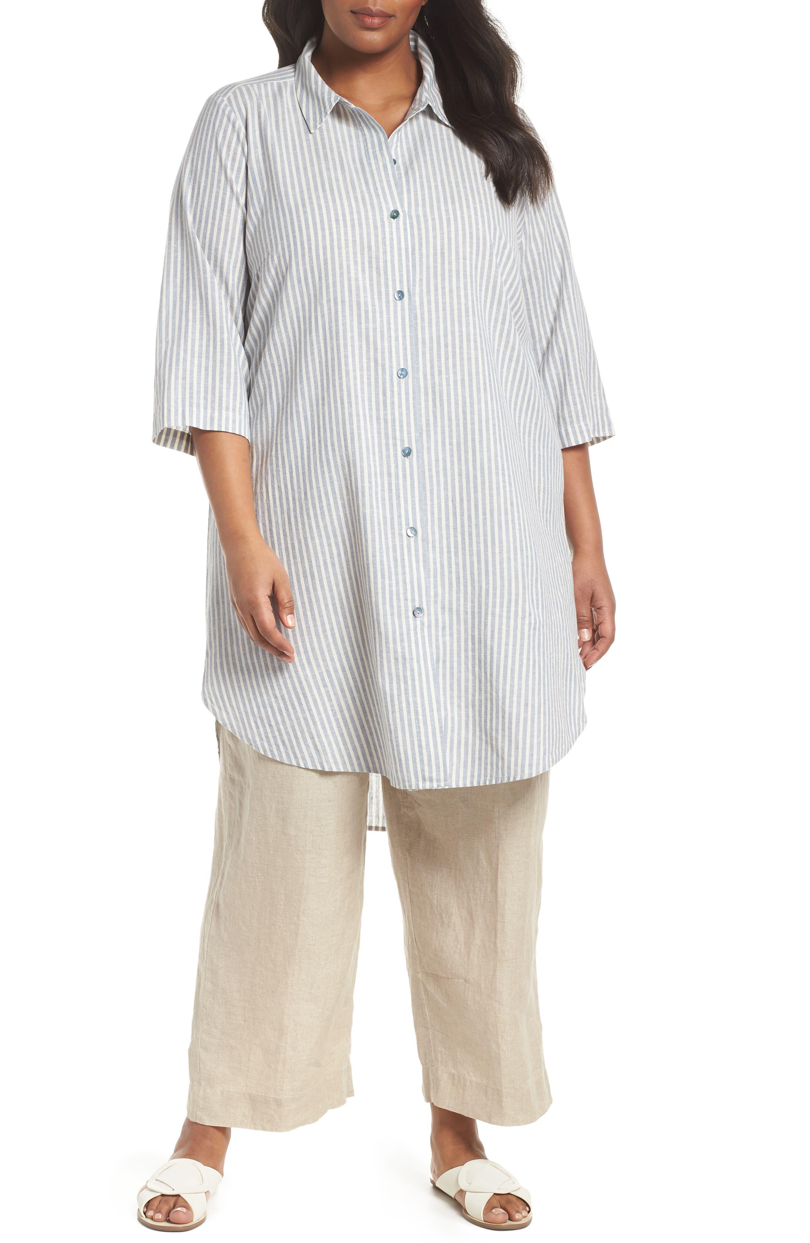 Stripe Tunic Top,                         Main,                         color, Chambray