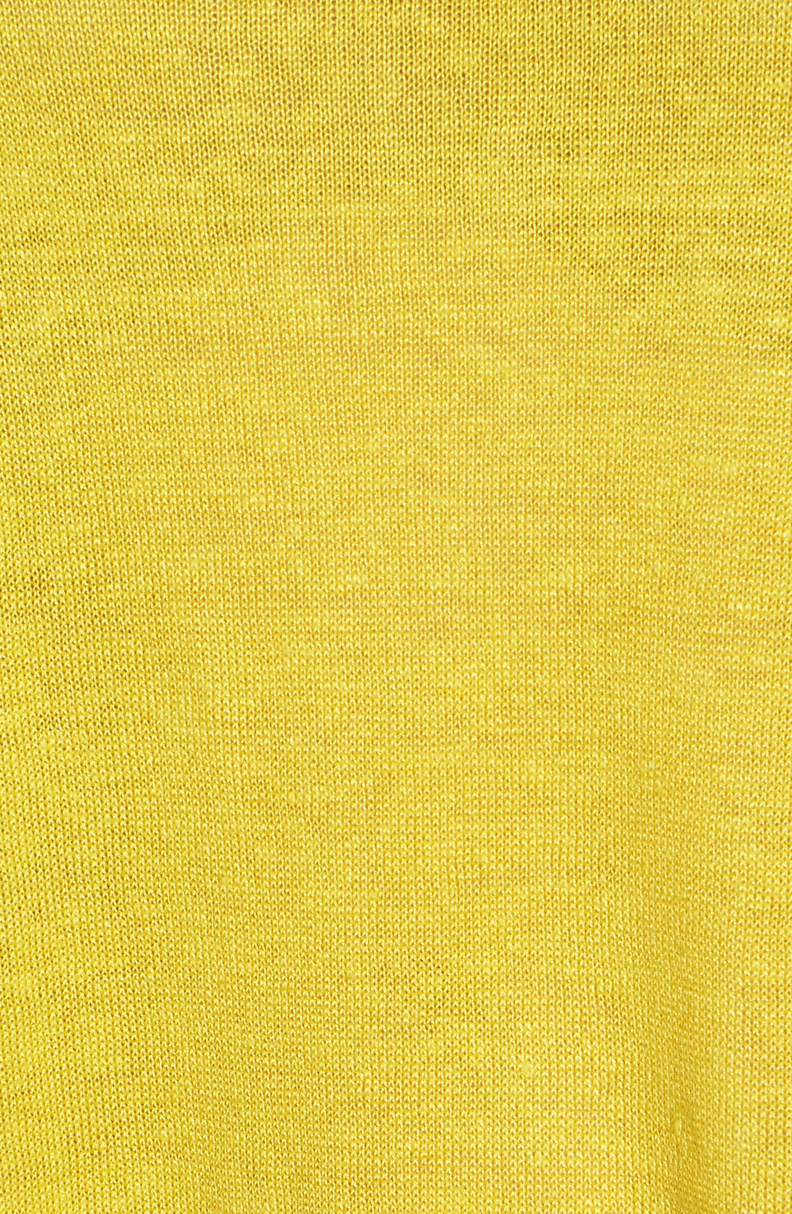 Asymmetrical Organic Linen Tunic,                             Alternate thumbnail 6, color,                             Yarrow
