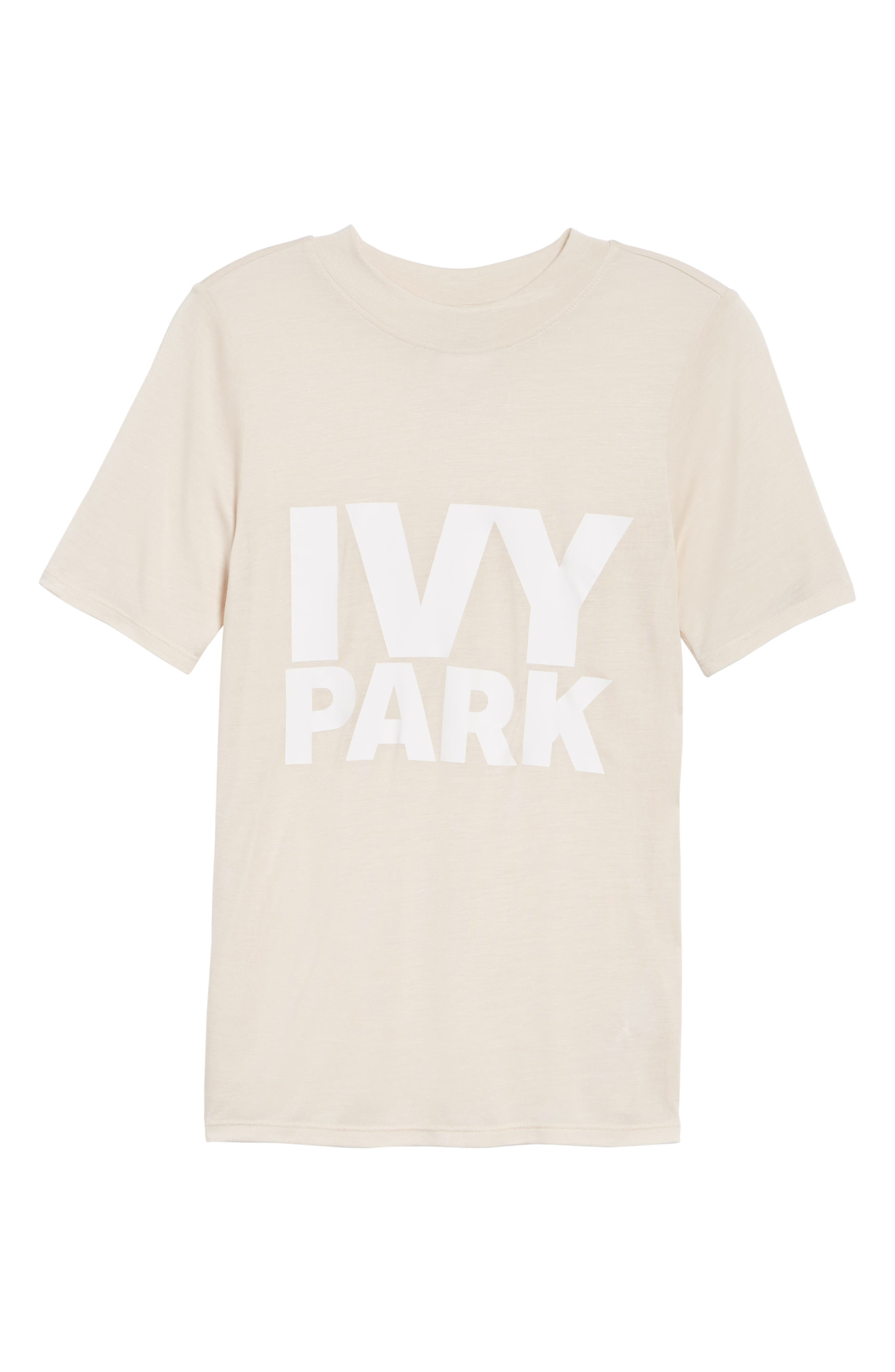 Programme Fitted Logo Tee,                         Main,                         color, Ecru