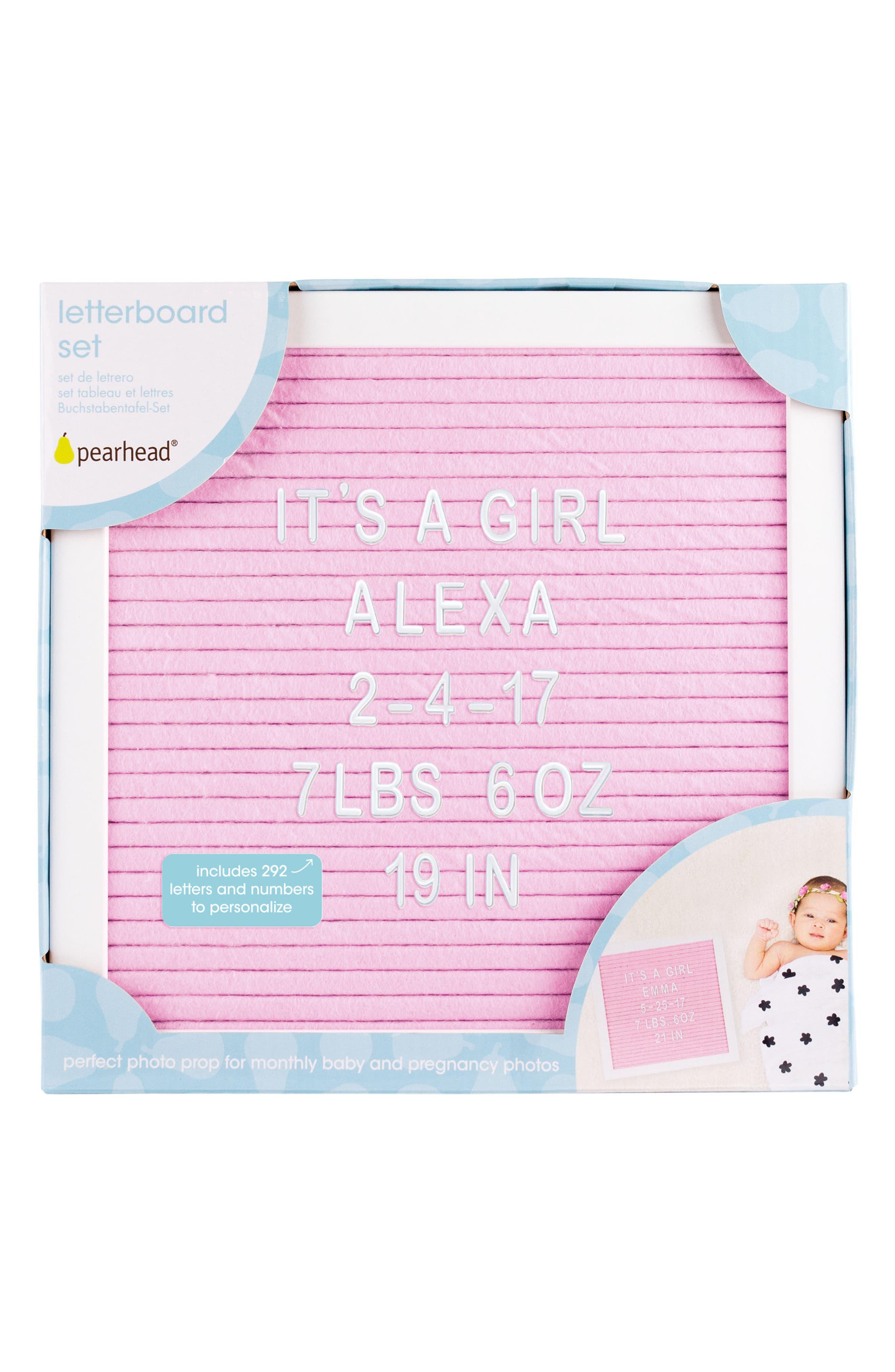 Changeable Felt Letter Board Set,                             Alternate thumbnail 2, color,                             Pink