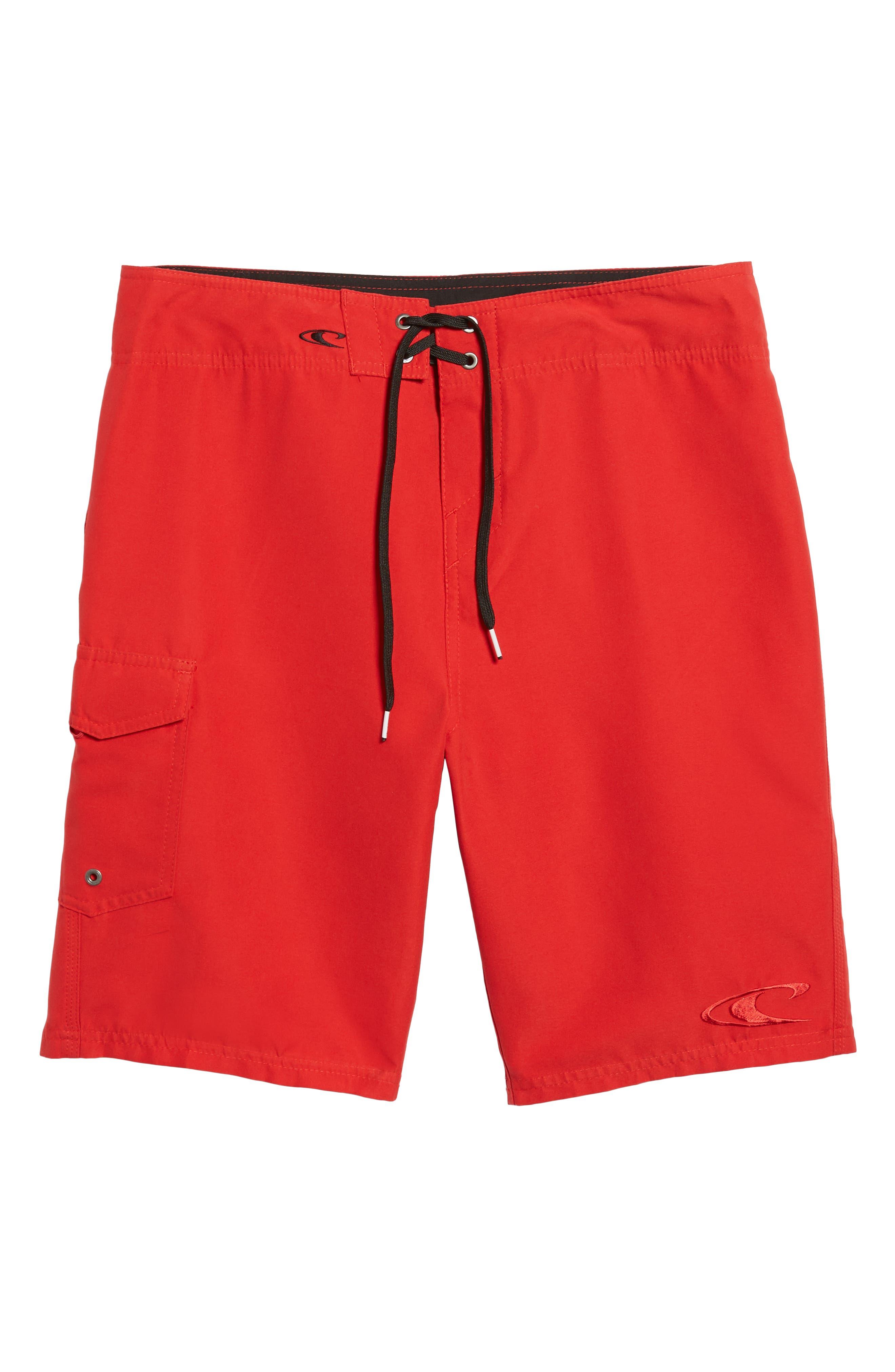 Santa Cruz Board Shorts,                             Alternate thumbnail 6, color,                             Red