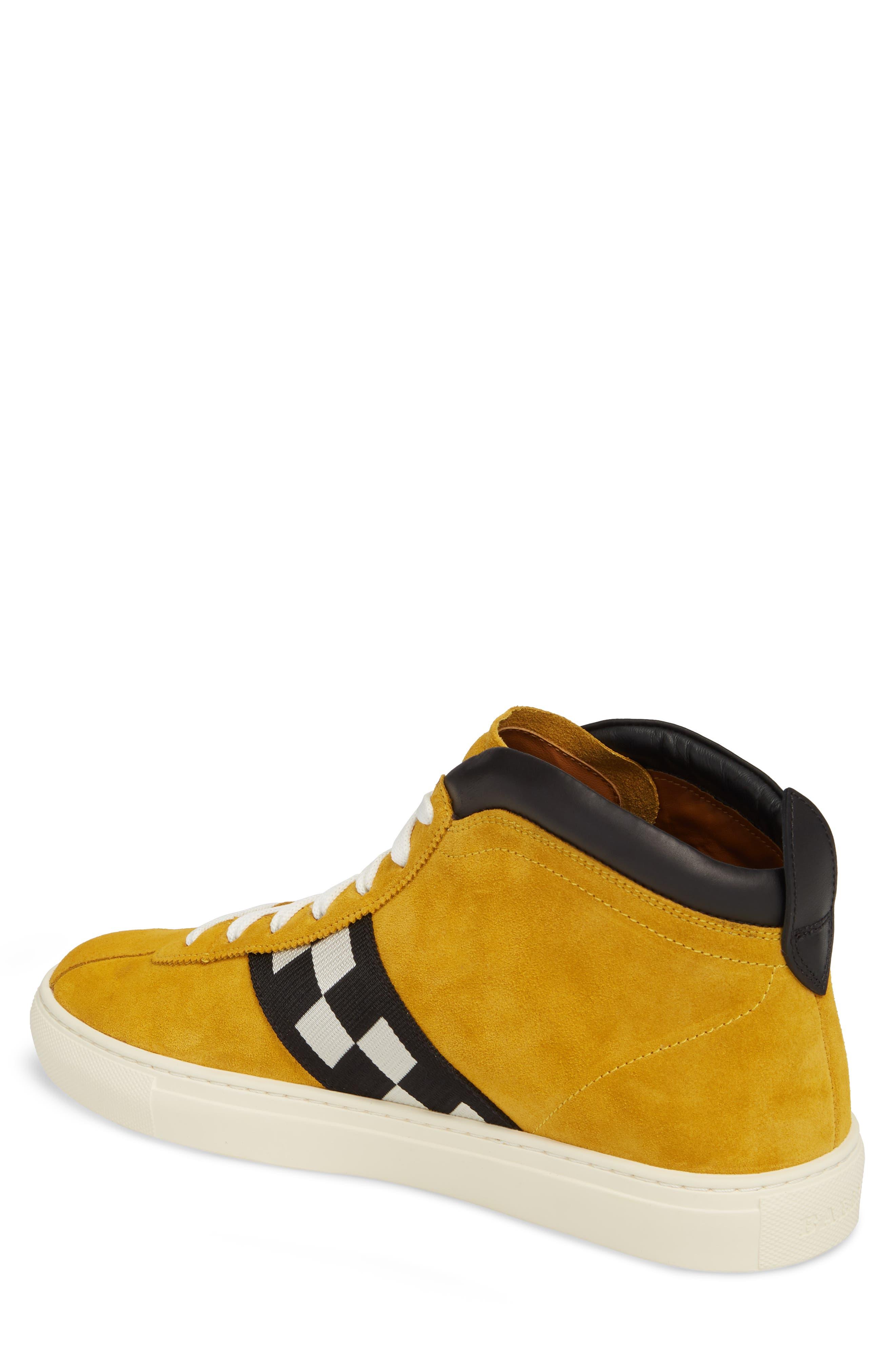Alternate Image 2  - Bally Vita Checkered High Top Sneaker (Men)