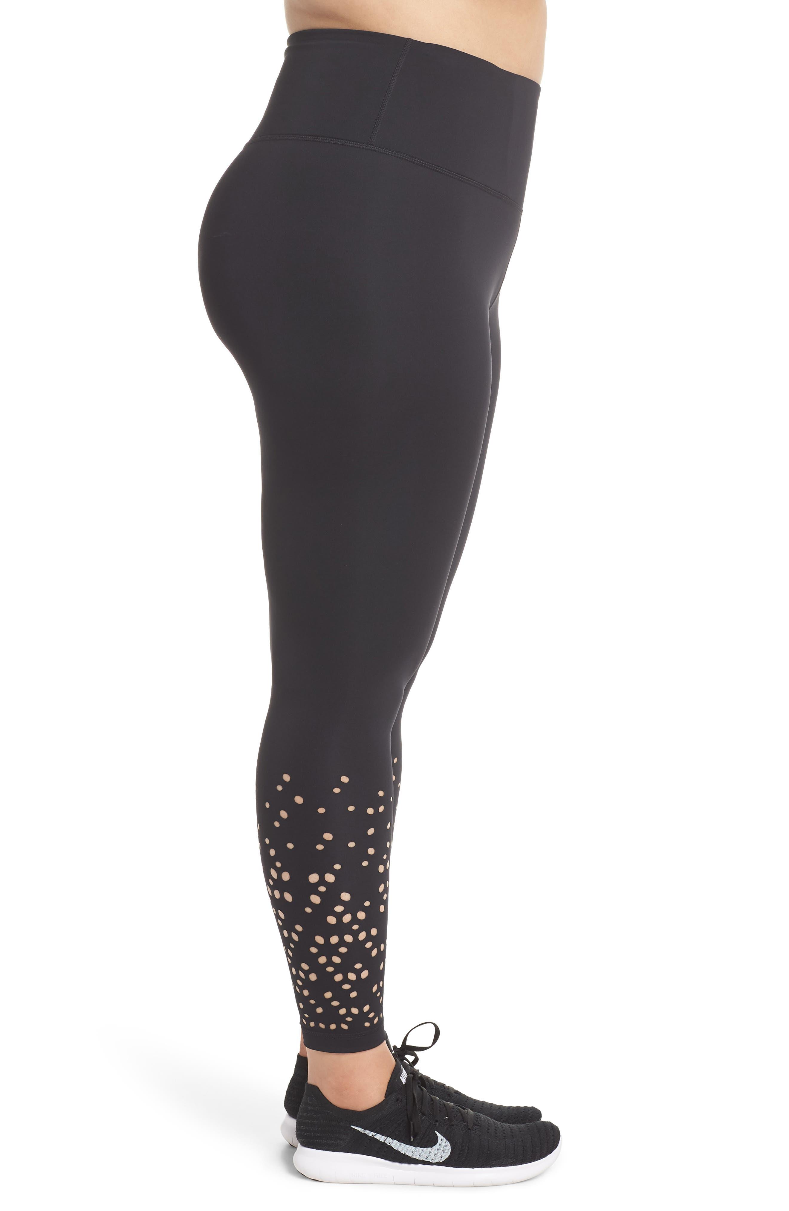 Alternate Image 3  - Zella Lasercut Leggings (Plus Size)