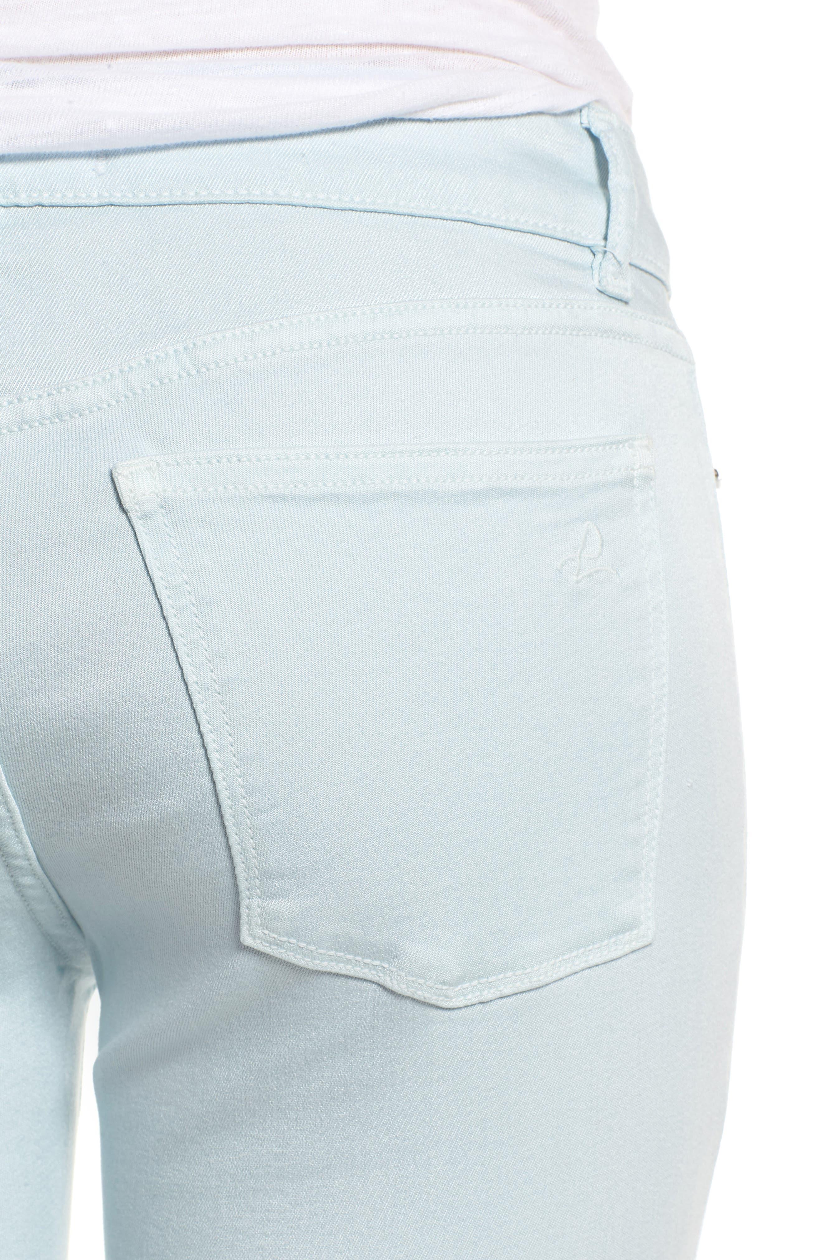 Florence Instasculpt Crop Skinny Jeans,                             Alternate thumbnail 4, color,                             Sky