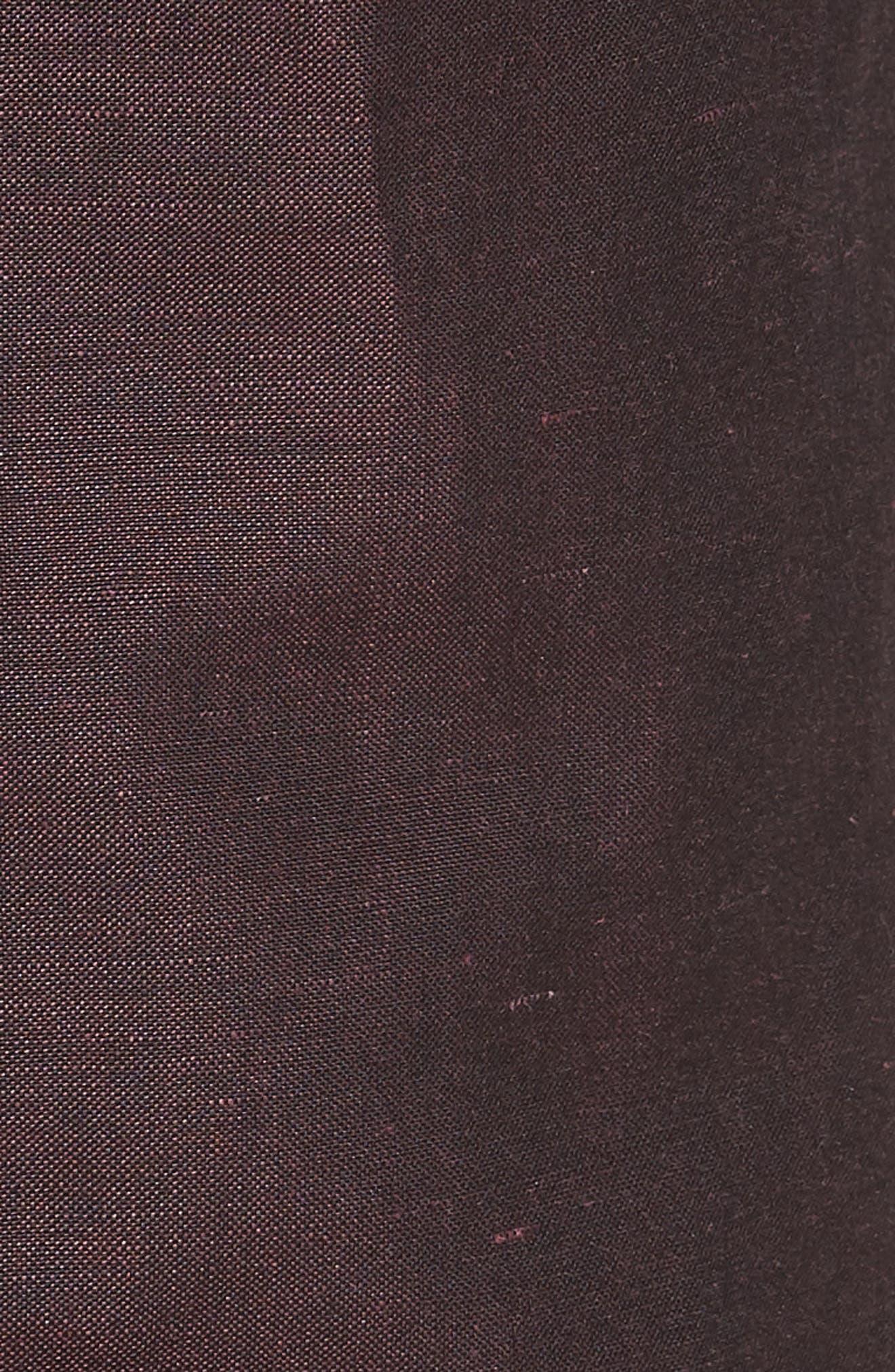 Dagger Flat Front Solid Wool & Linen Trousers,                             Alternate thumbnail 5, color,                             Plum
