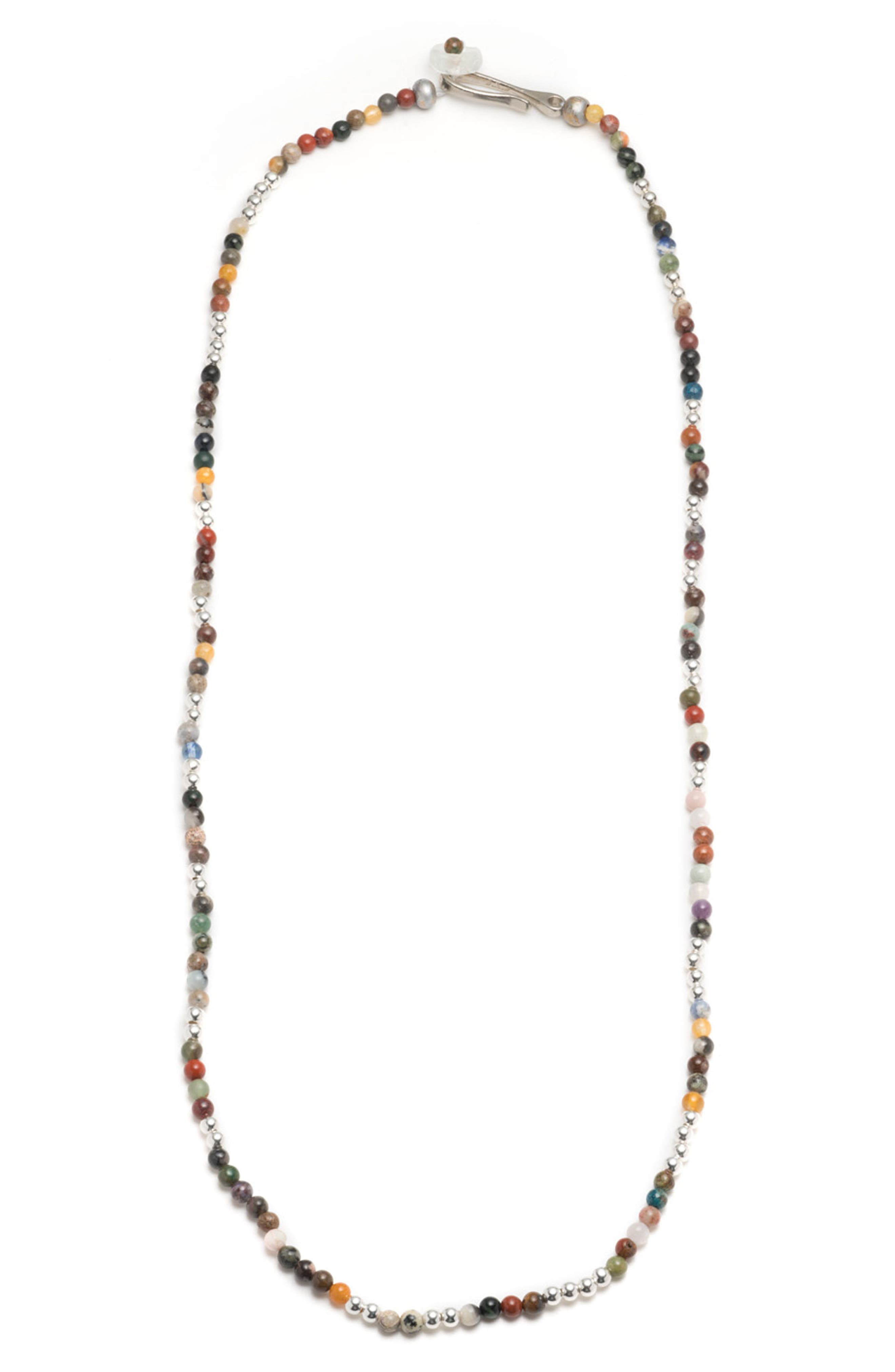 Essaouira Necklace,                             Main thumbnail 1, color,                             Silver/ Multi
