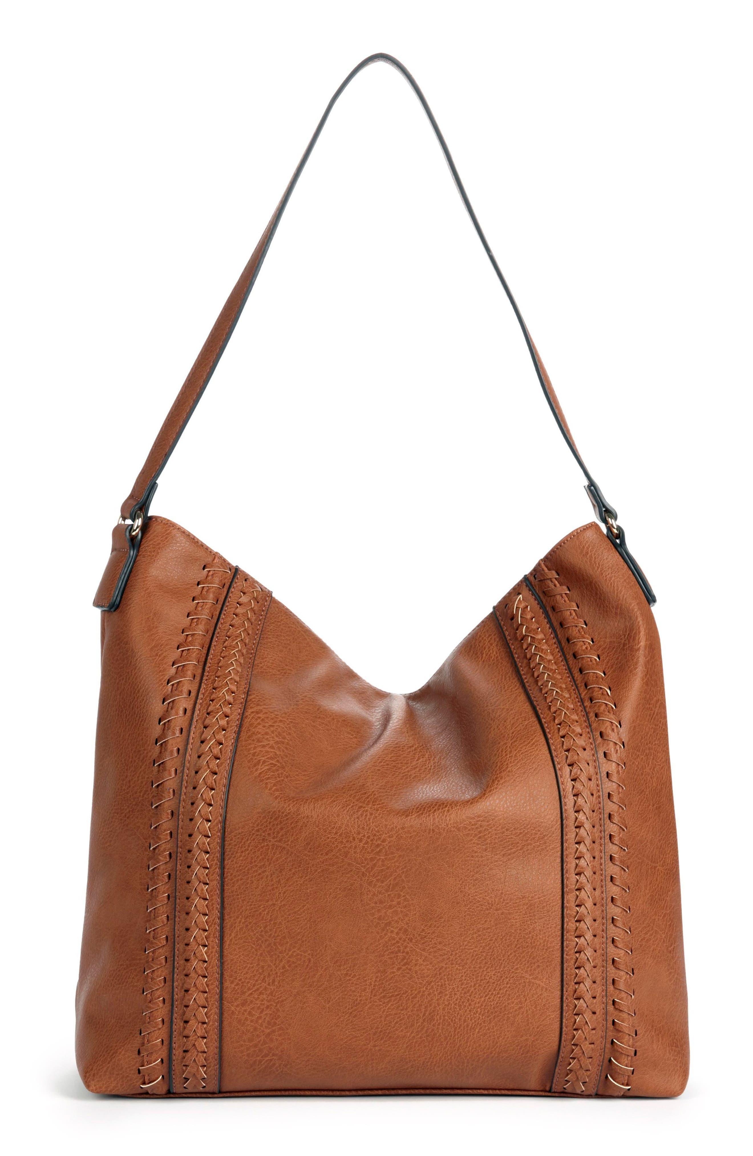 Sole Society Destin Faux Leather Hobo Bag