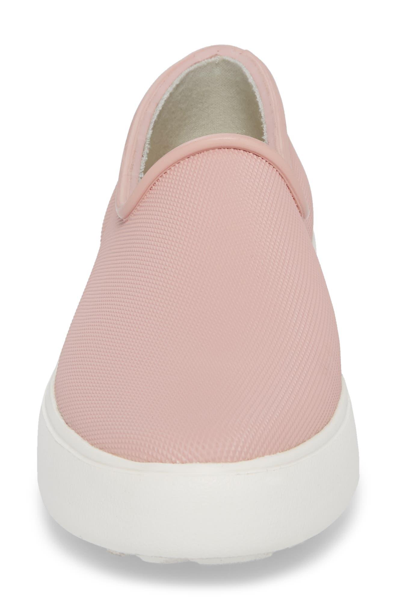 Rainy Day Waterproof Slip-On Sneaker,                             Alternate thumbnail 4, color,                             Dusty Pink