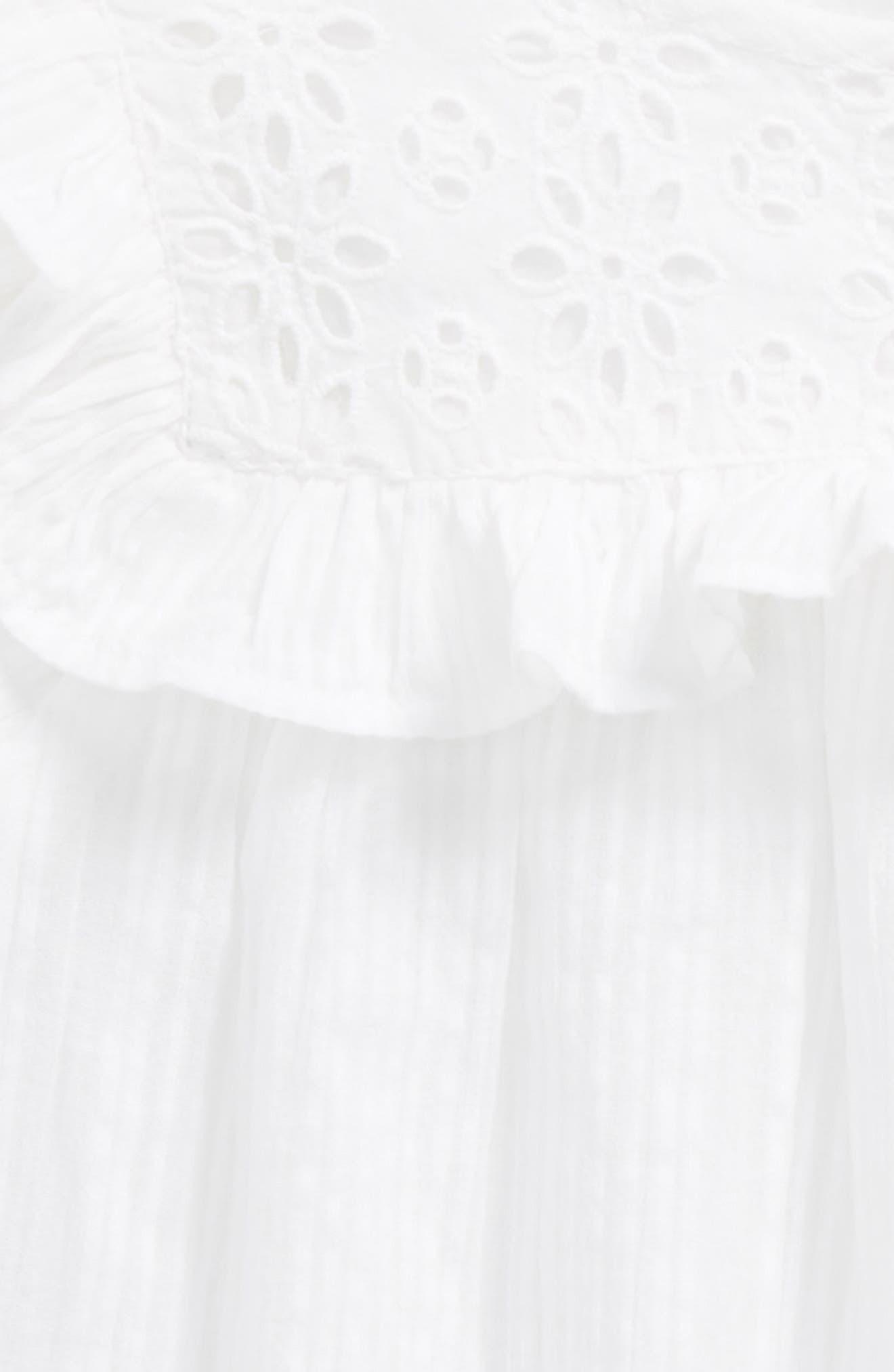 Flutter Sleeve Top,                             Alternate thumbnail 2, color,                             White